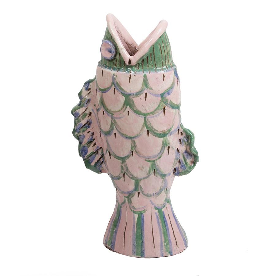 Handbuilt Stoneware Sculptural Fish Vase
