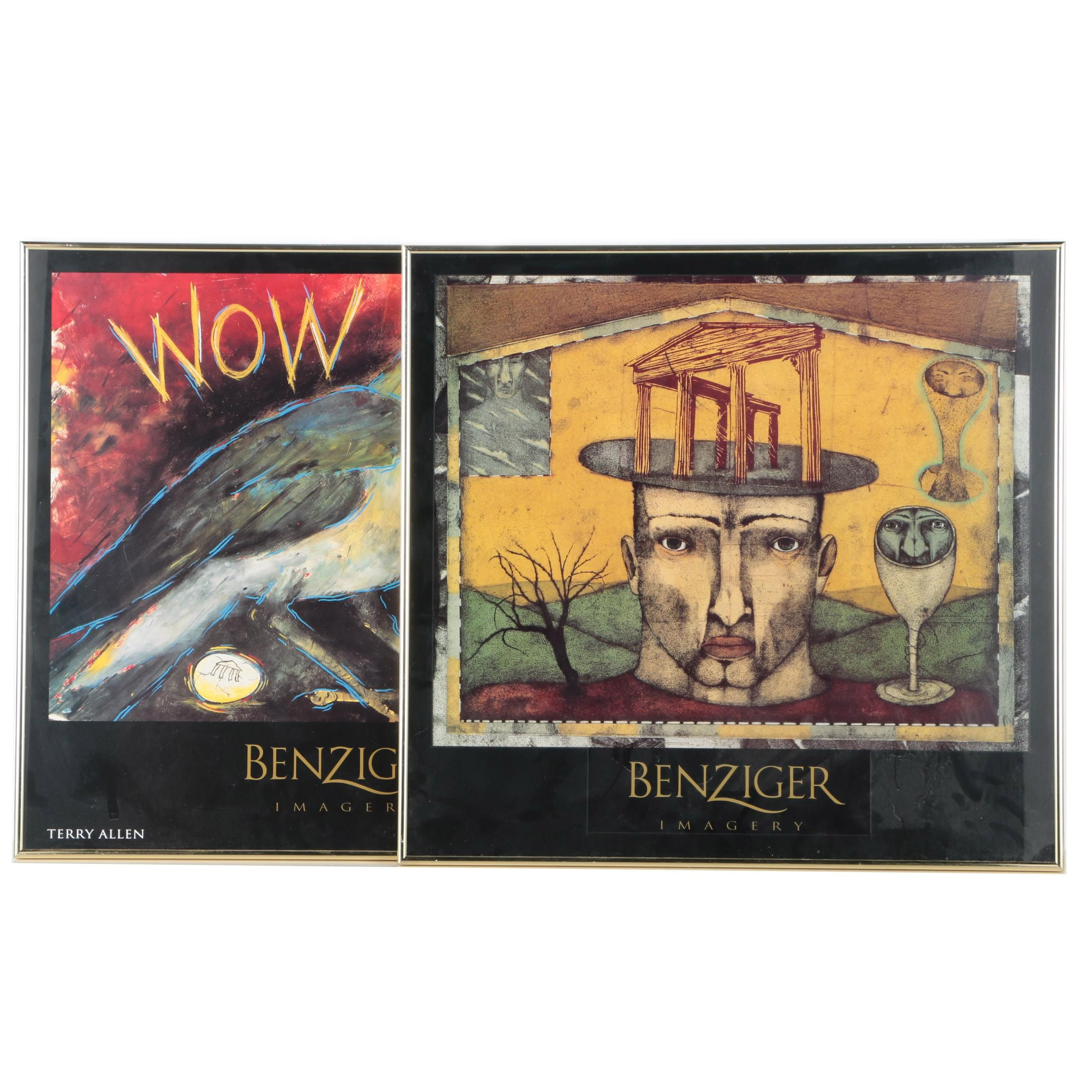 Framed Benziger Imagery Offset Lithograph Prints
