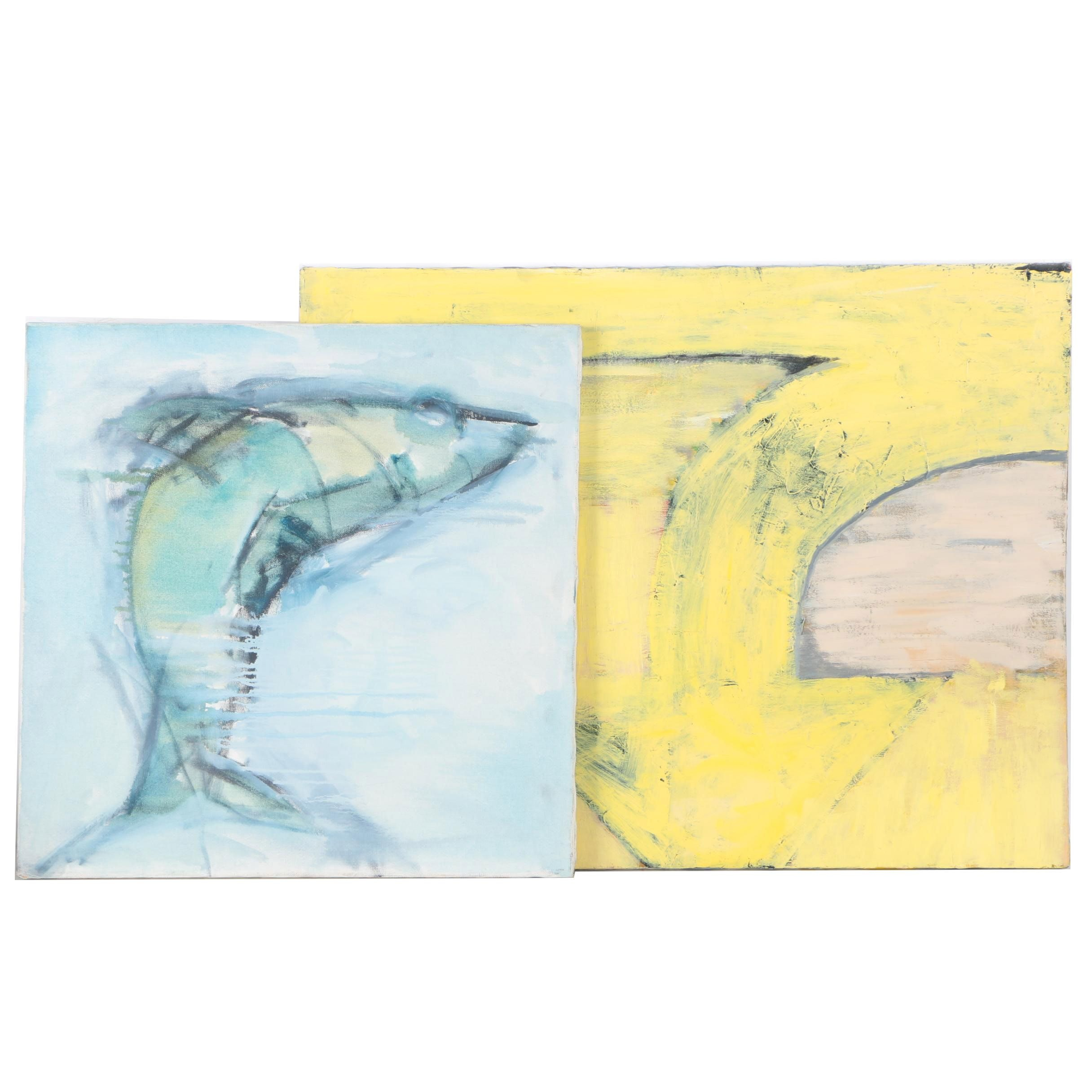 Acrylic Paintings on Canvas of Abstract Forms