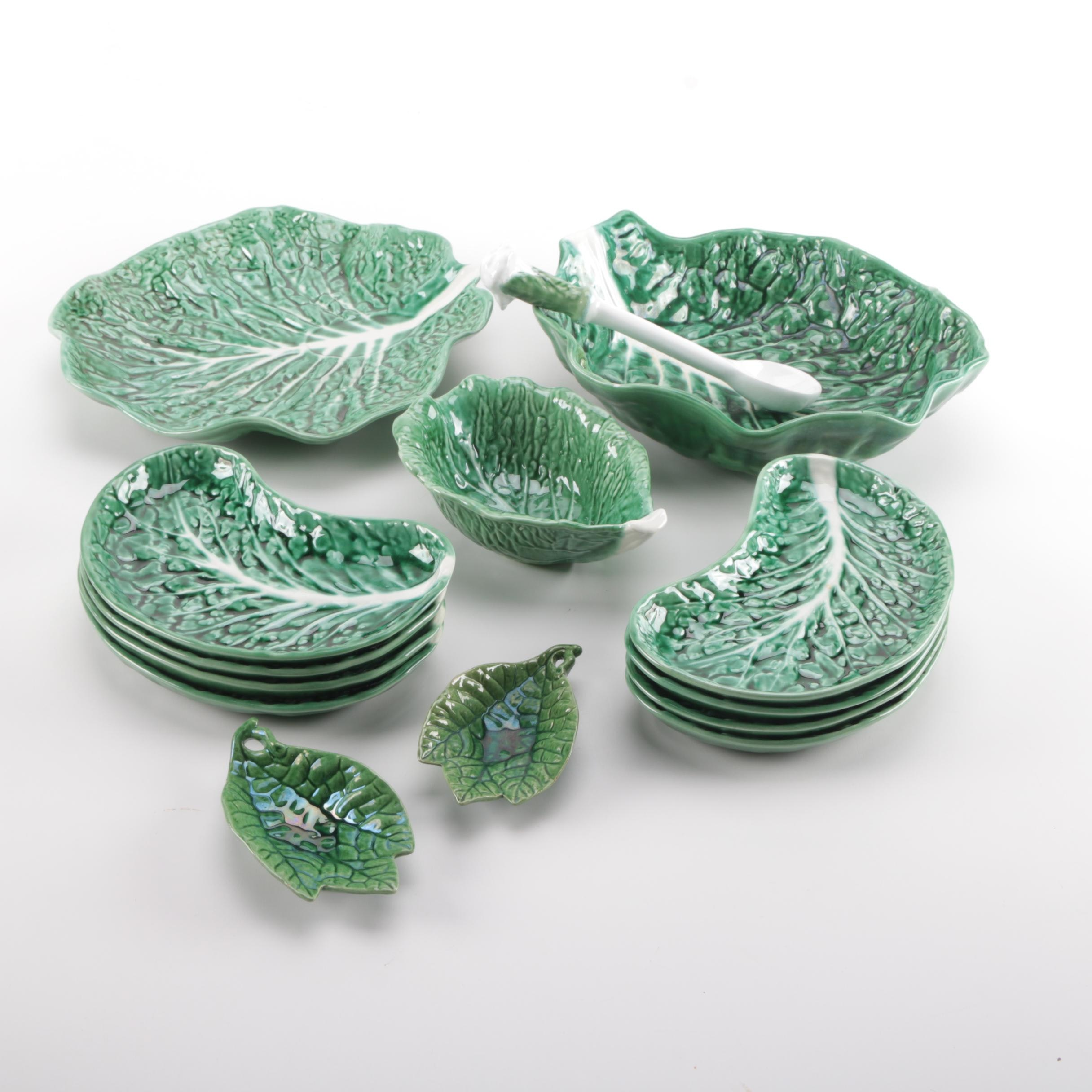 Majolica Style Ceramic Serveware Including Portuguese