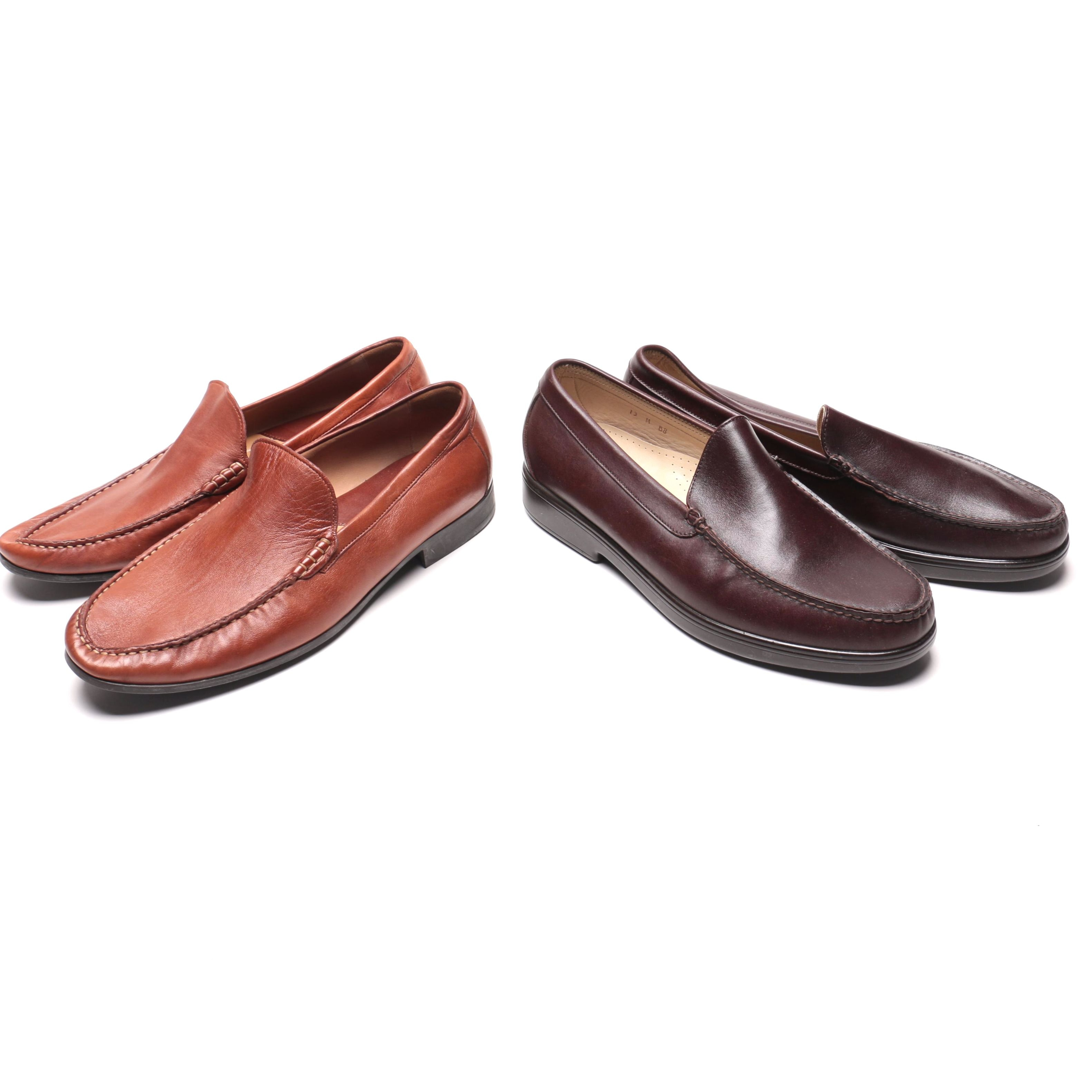 Men's Leather Loafers Including Johnson & Murphy
