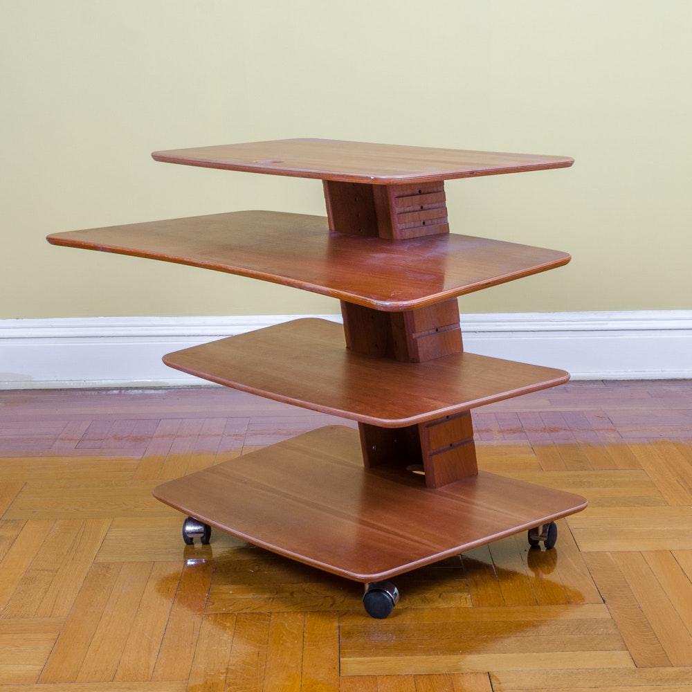 Danish Modern Beech Plywood Desk by Aksel Kjersgaard for Levenger