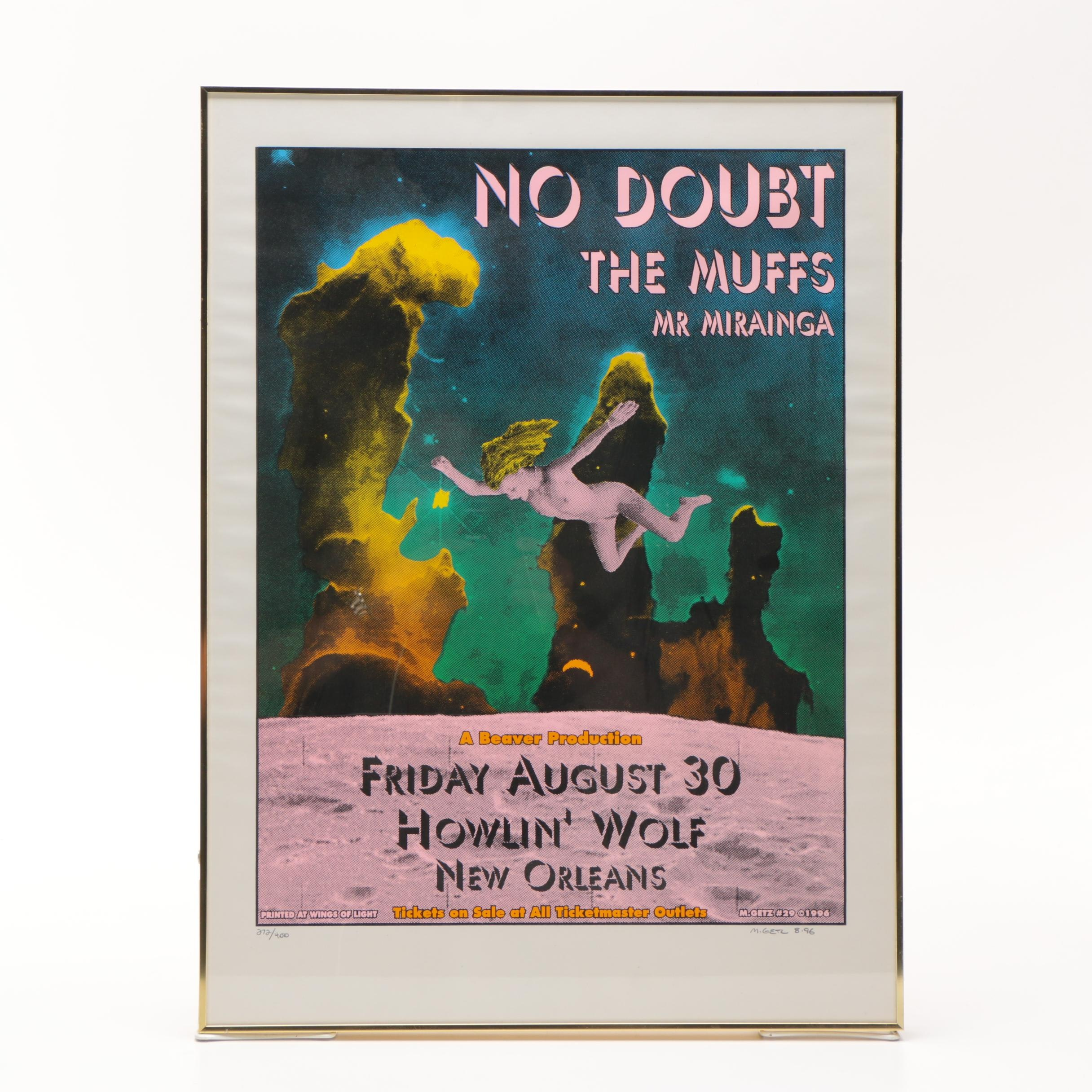 """Signed Limited Edition Serigraph Poster, Featuring """"No Doubt"""""""