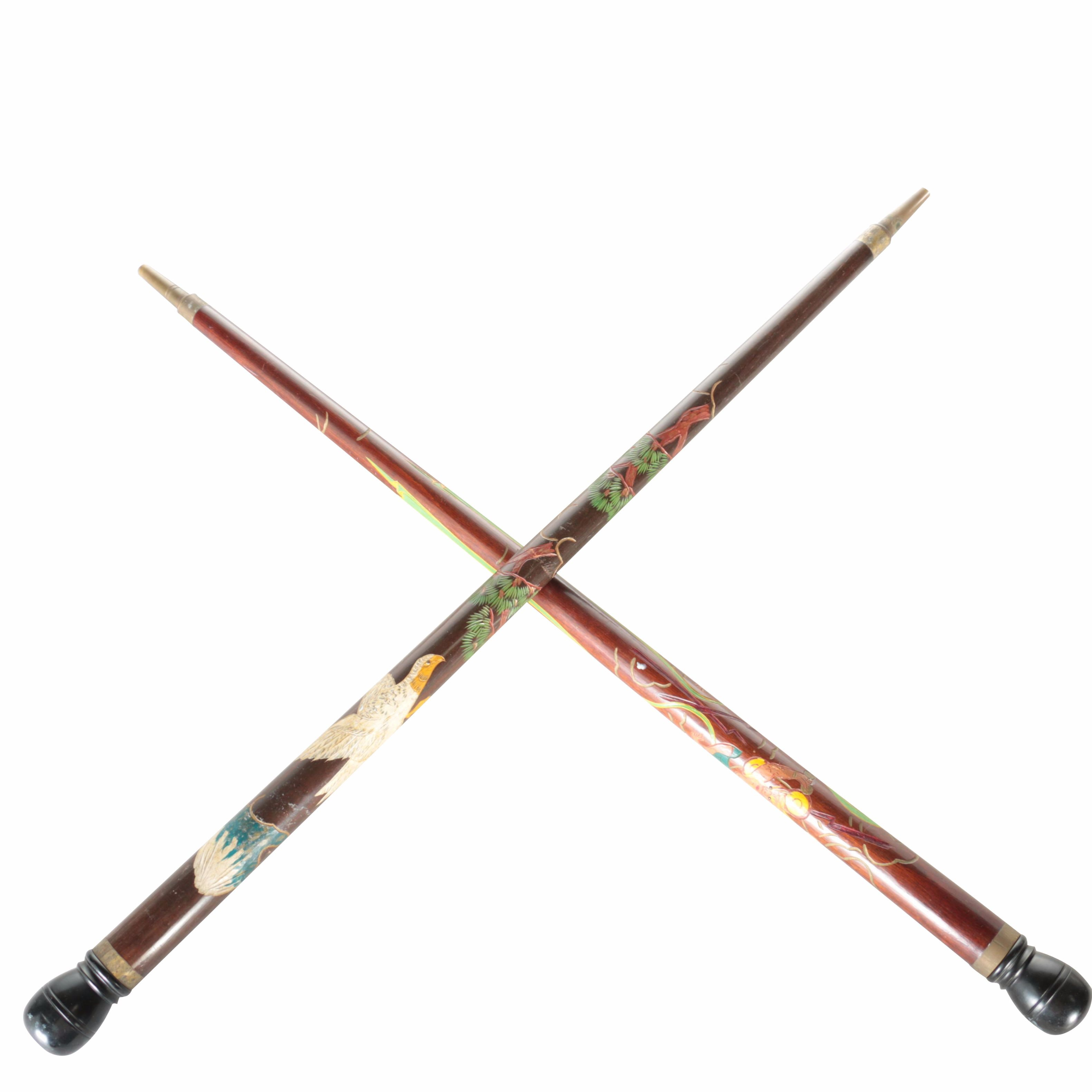 Decorative Pool Cue Walking Canes