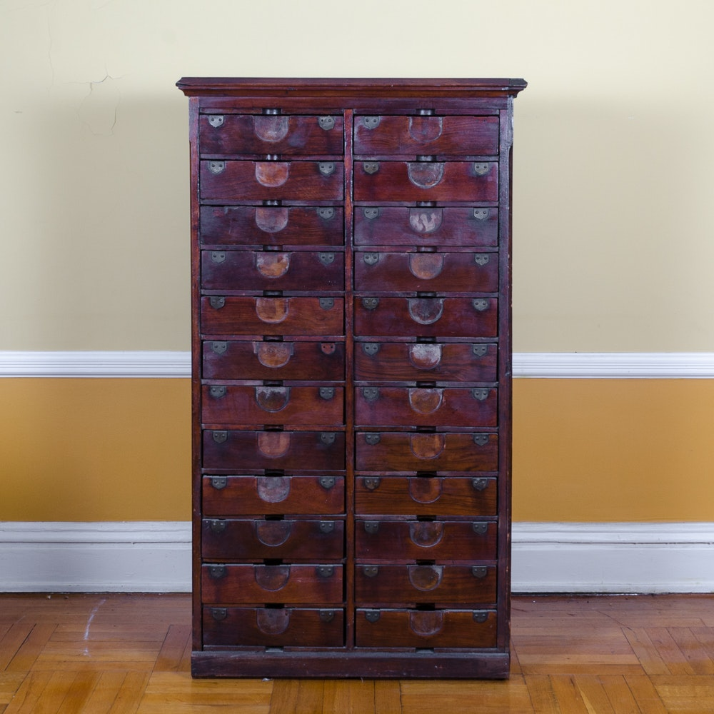 Antique Letter File Cabinet by Amberg