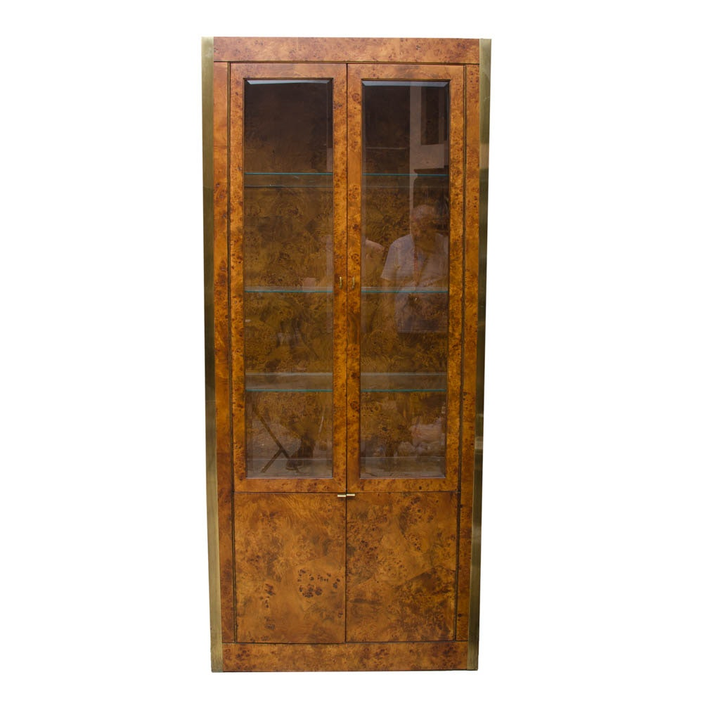 Burl Wood China Cabinet By Tomlinson ...