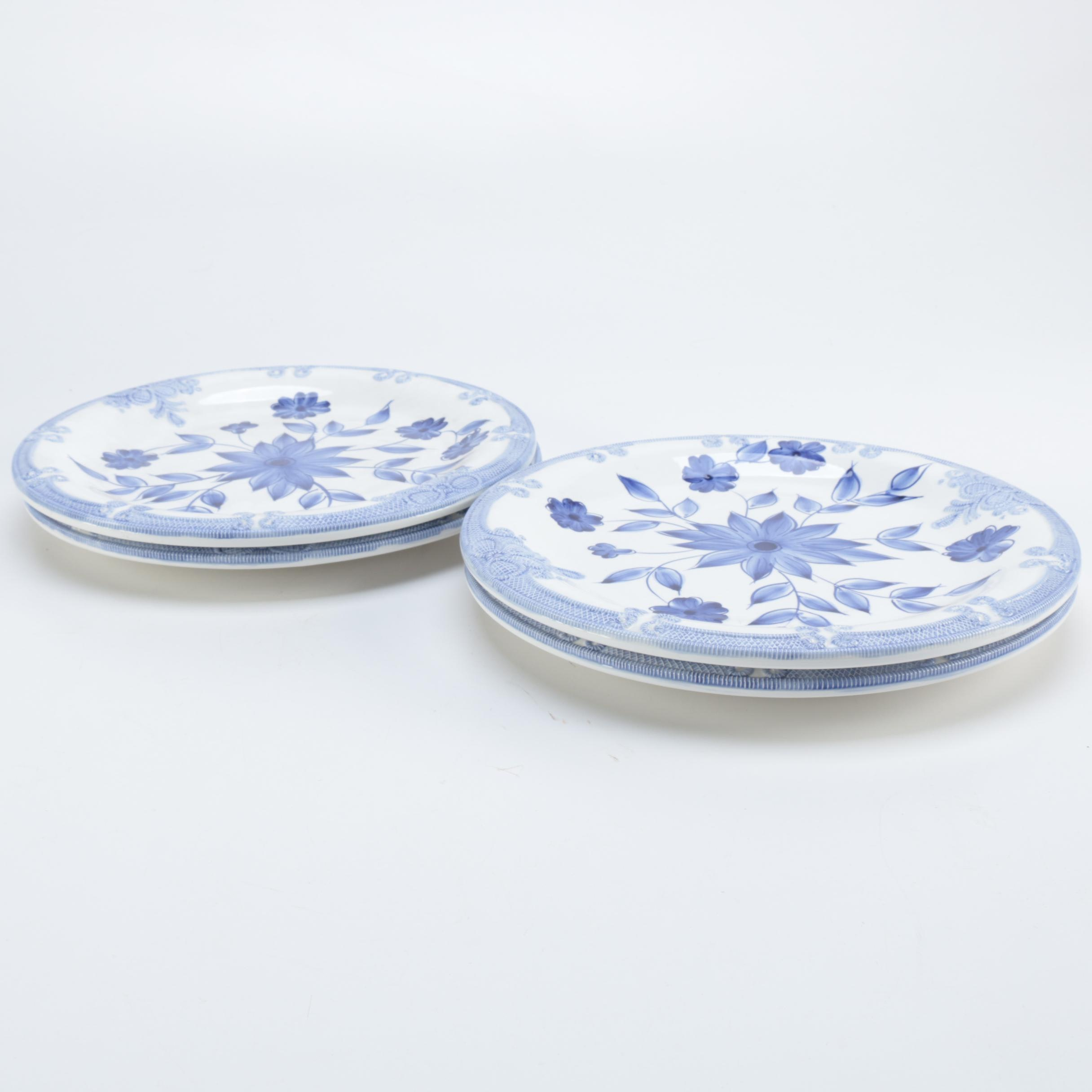 Milson and Louis Hand Painted Dinner Plates