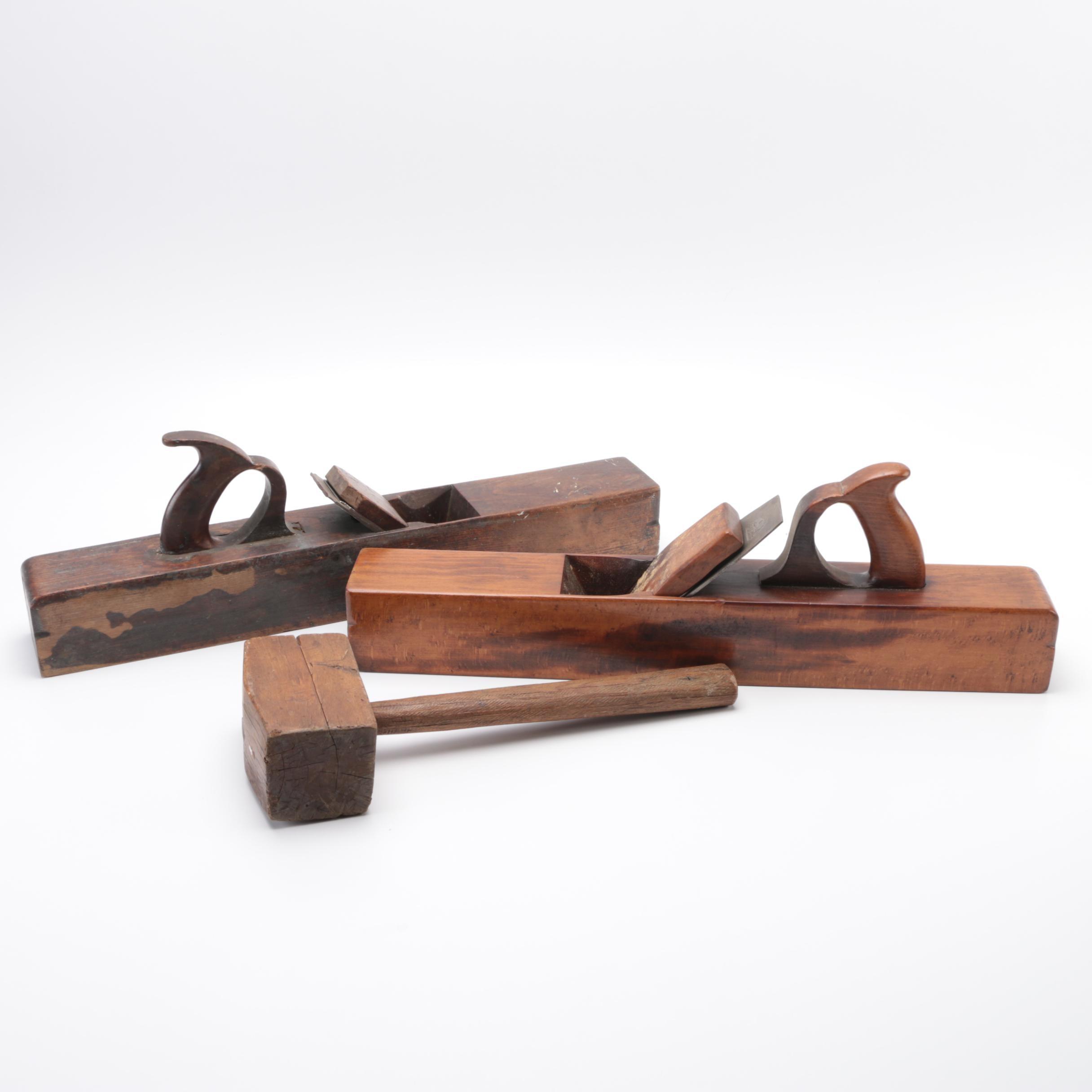 Antique Wooden Carpenter's Planes