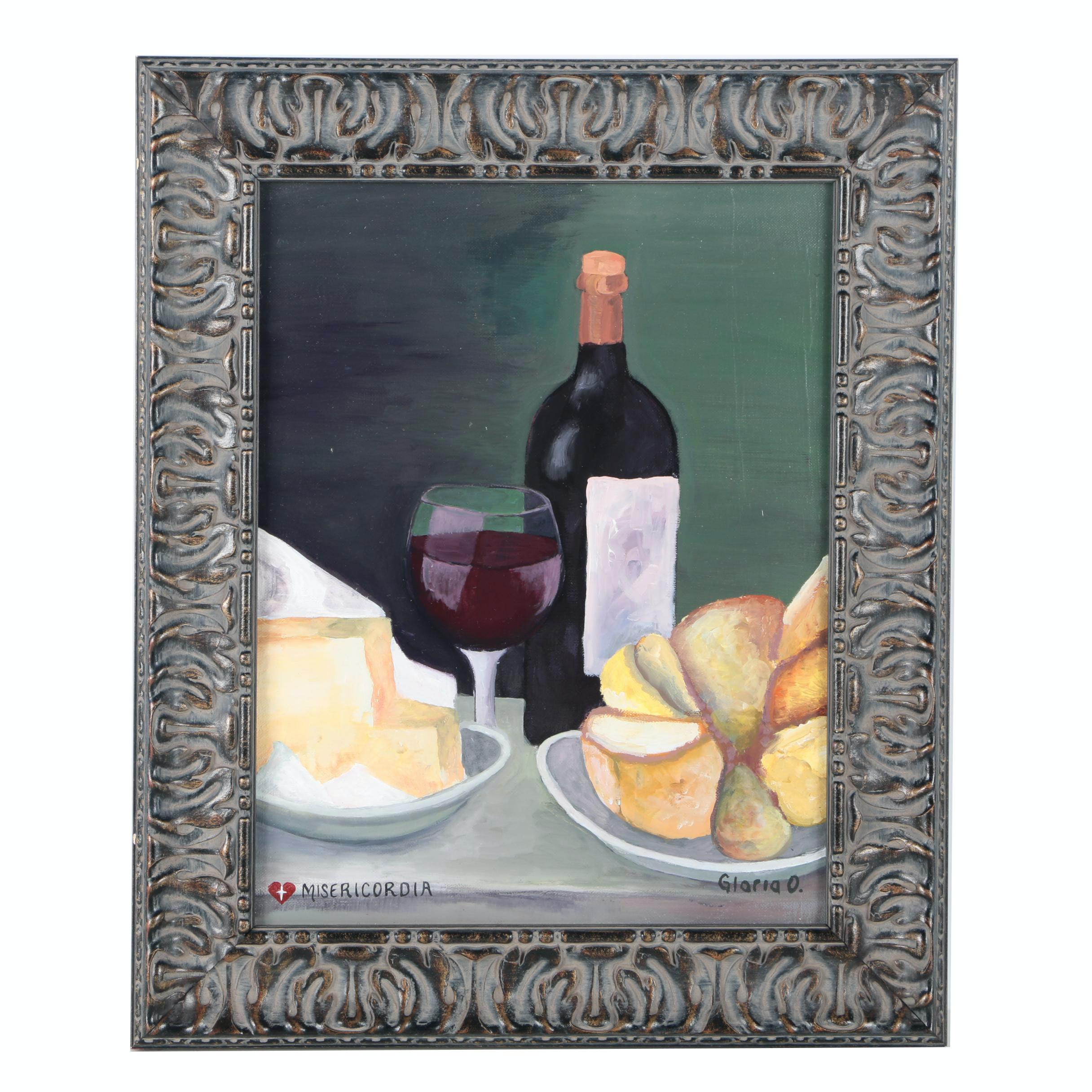 "Gloria O. Oil Still Life Painting ""Misericordia"""