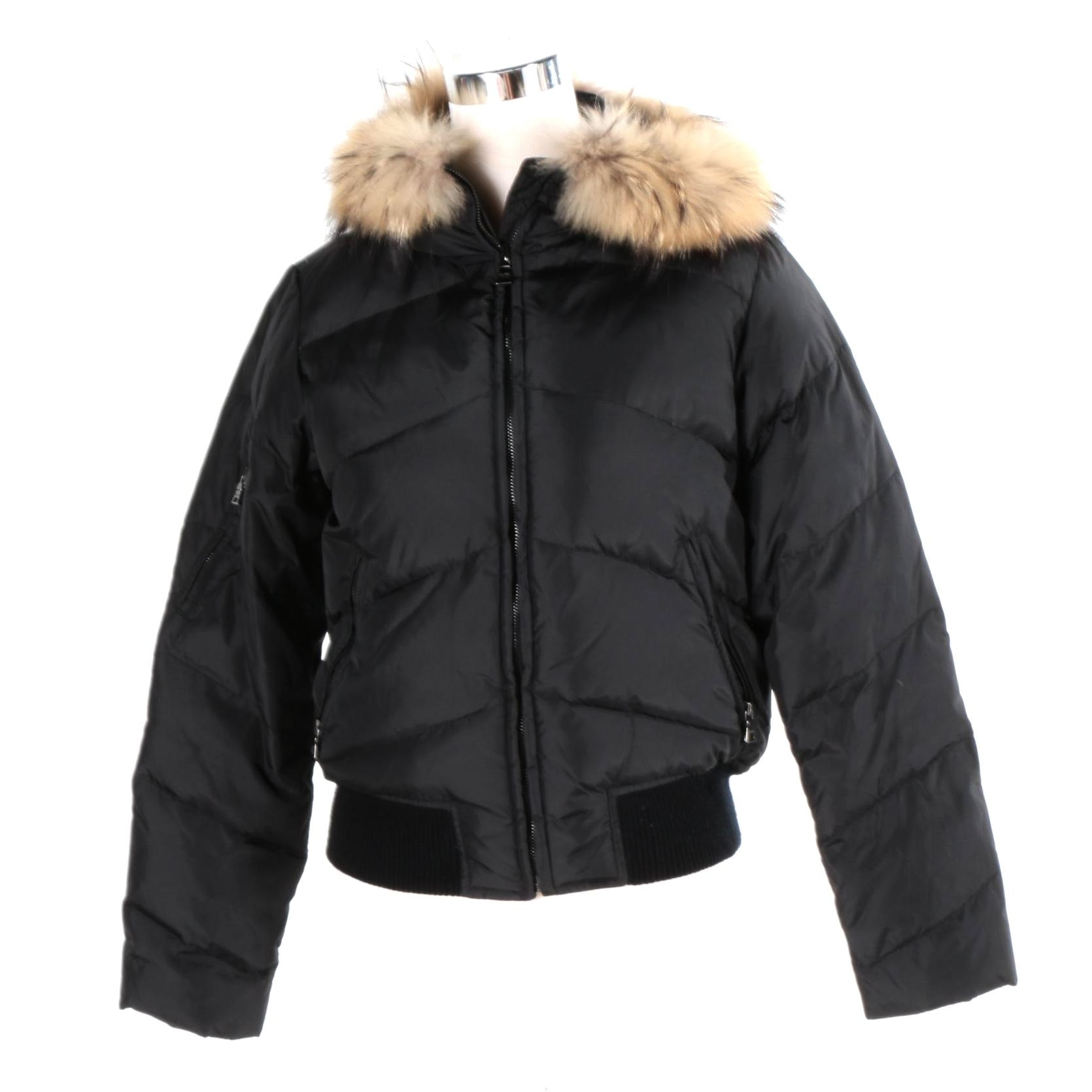 Marc New York Winter Coat With Raccoon Fur Trim