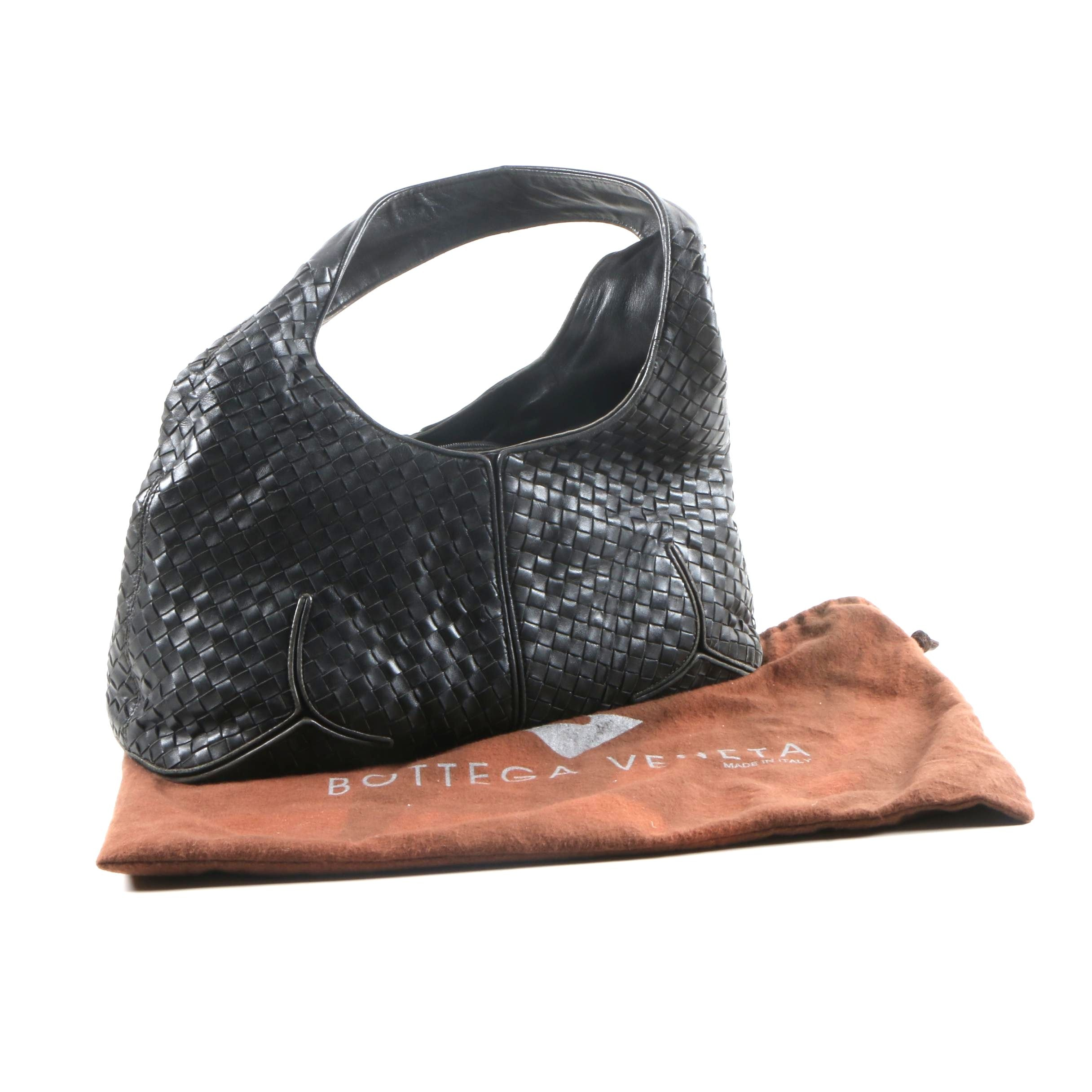 Bottega Veneta Black Hobo Bag