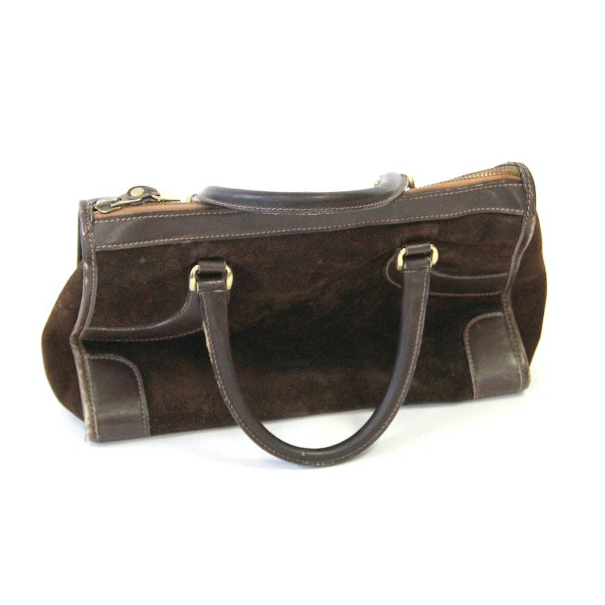 a6b0dc686 Vintage Gucci Suede Handbag : EBTH
