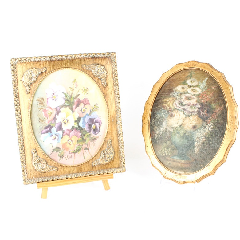 Two Framed Floral Paintings