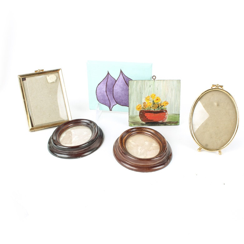 Miniature Paintings and Picture Frames