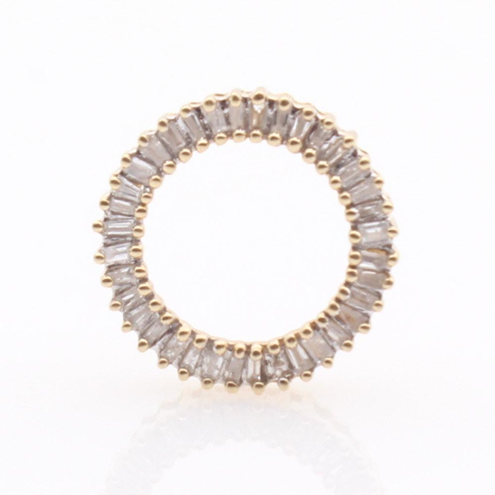 14K Yellow Gold Diamond Wreath Pendant