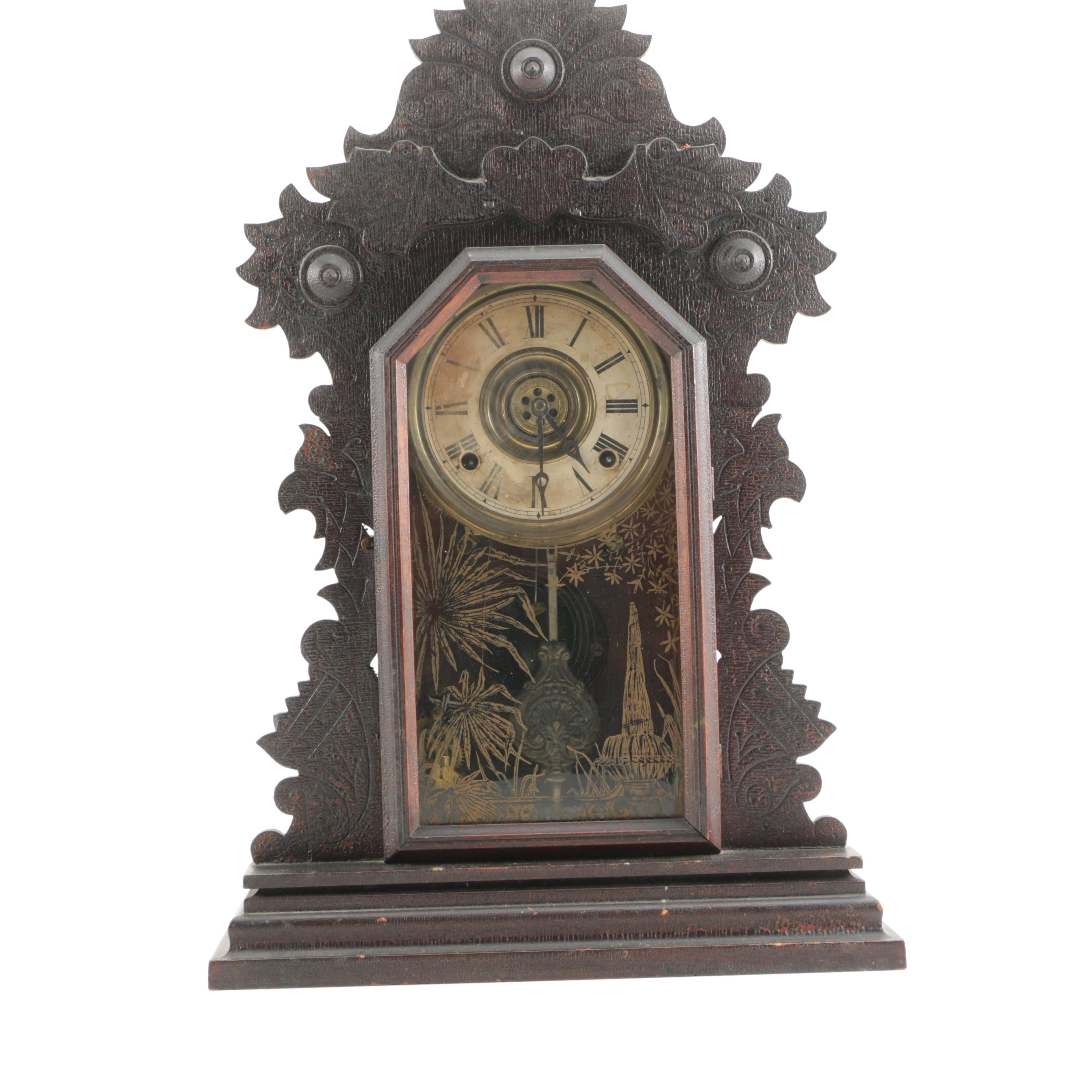 Antique Eastlake Style Mantel Clock