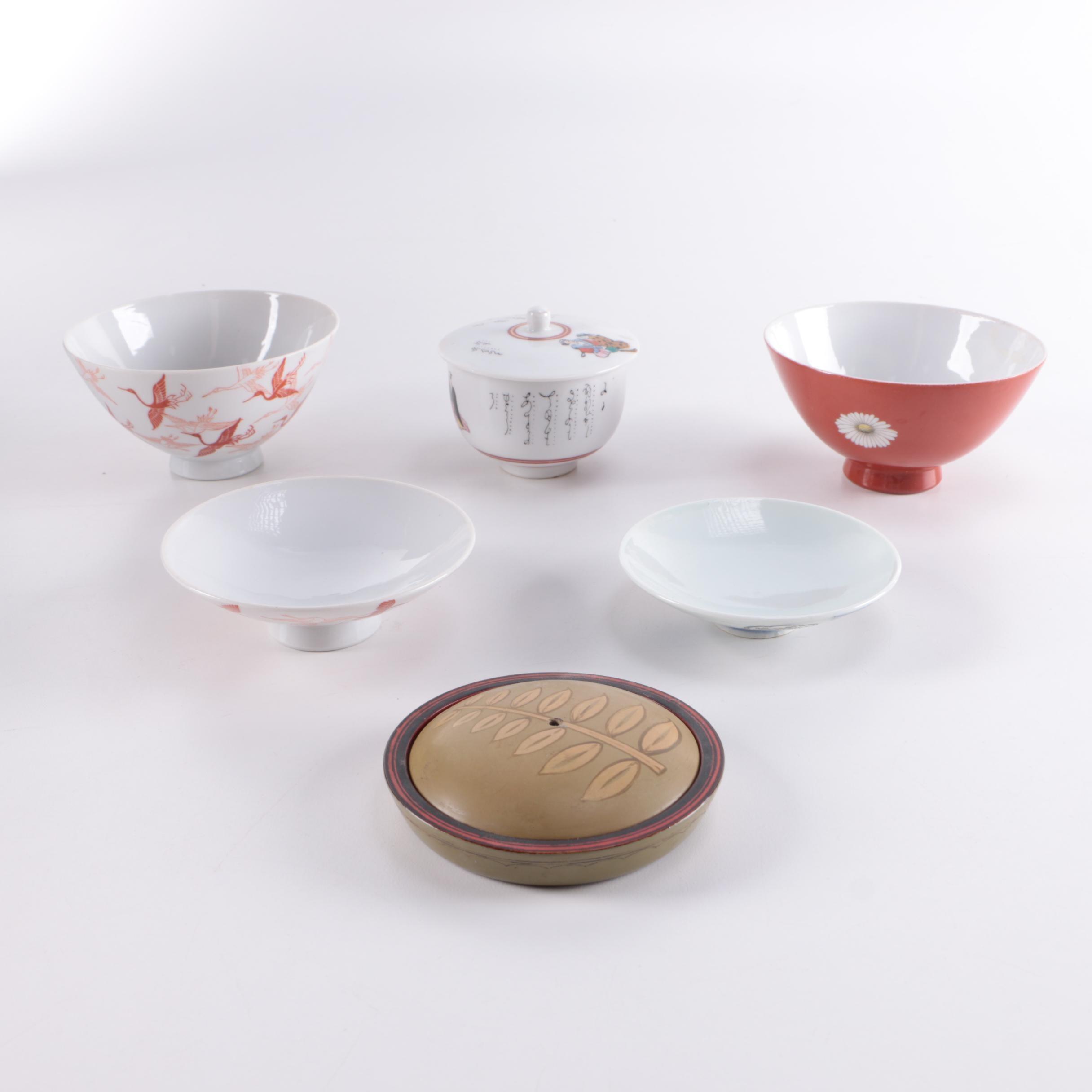 Assortment of Asian Inspired Porcelain