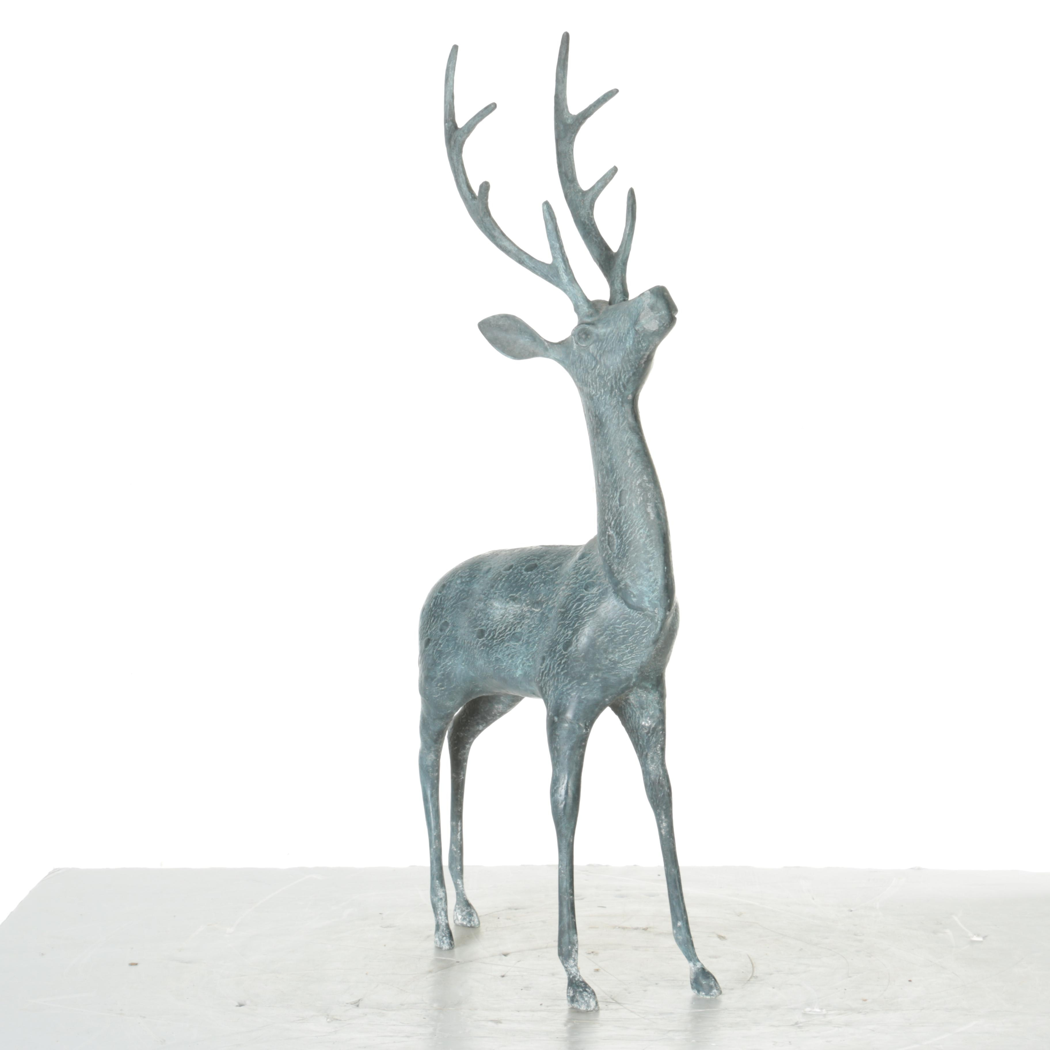 Metal Buck Floor Sculpture
