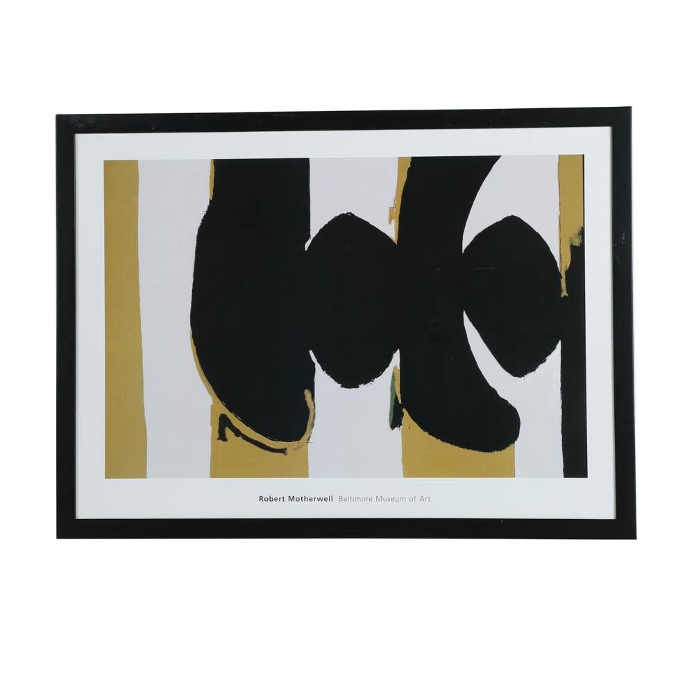 After Robert Motherwell Offset Lithograph Poster