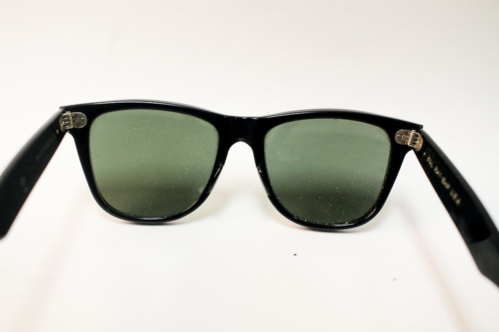 1960s Bausch and Lomb Ray Ban Wayfarer Glasses   EBTH 7ac15a5113