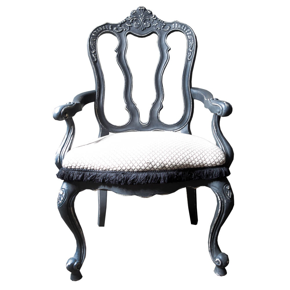 Louis XV Style Chalk-Painted Armchair by Touchstone Collections