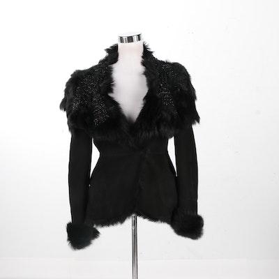 Alexander McQueen Sheep Suede Coat