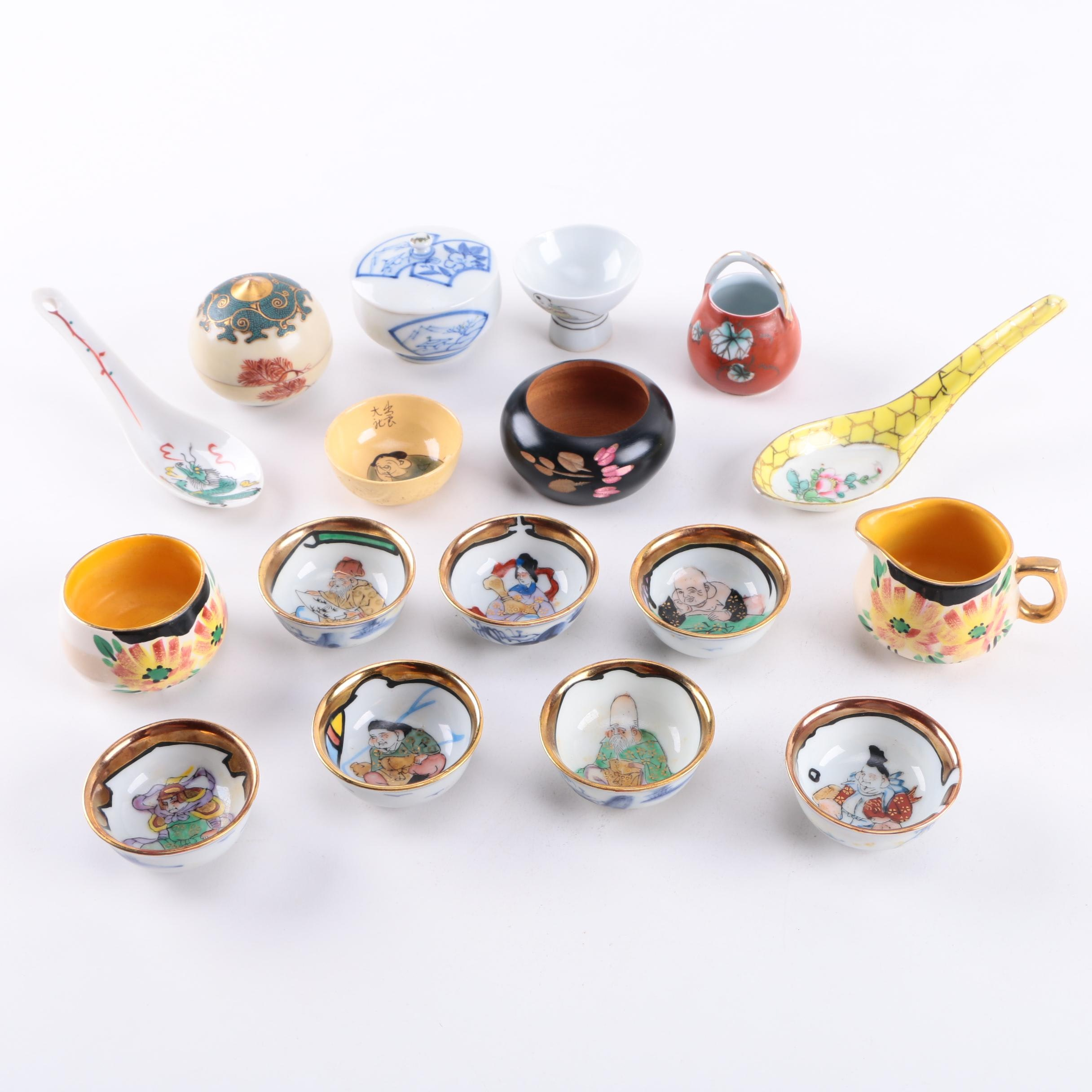 Assorted Miniature Asian Style Bowls and Tableware