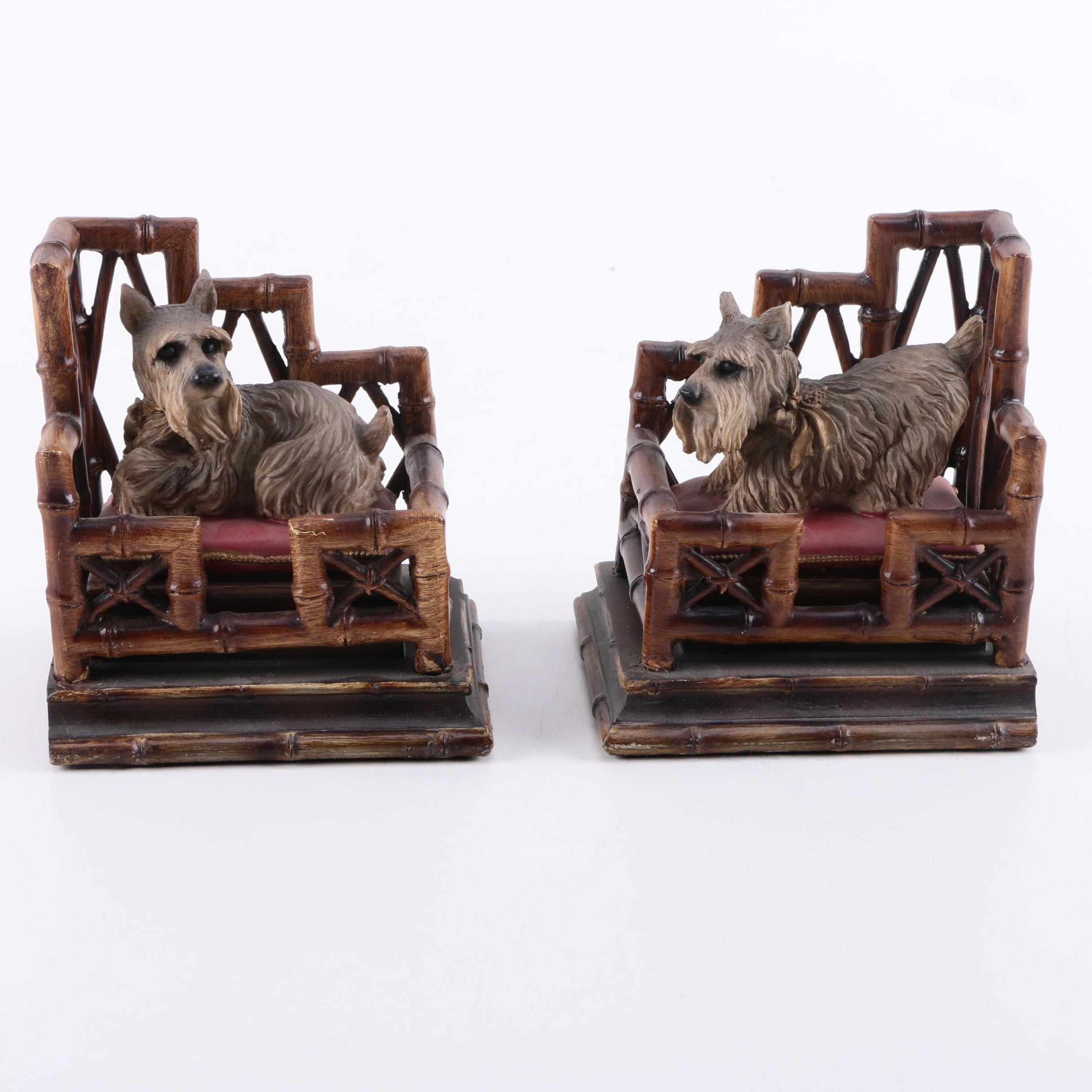 Pair of Schnauzer Bookends