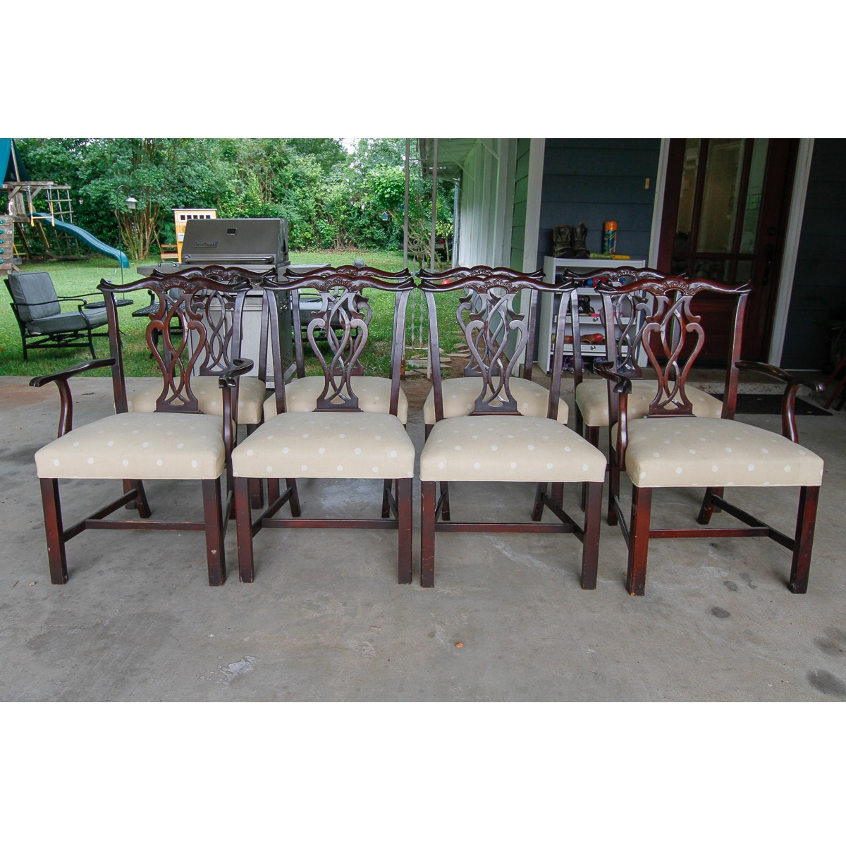 Collection of Chippendale Style Chairs