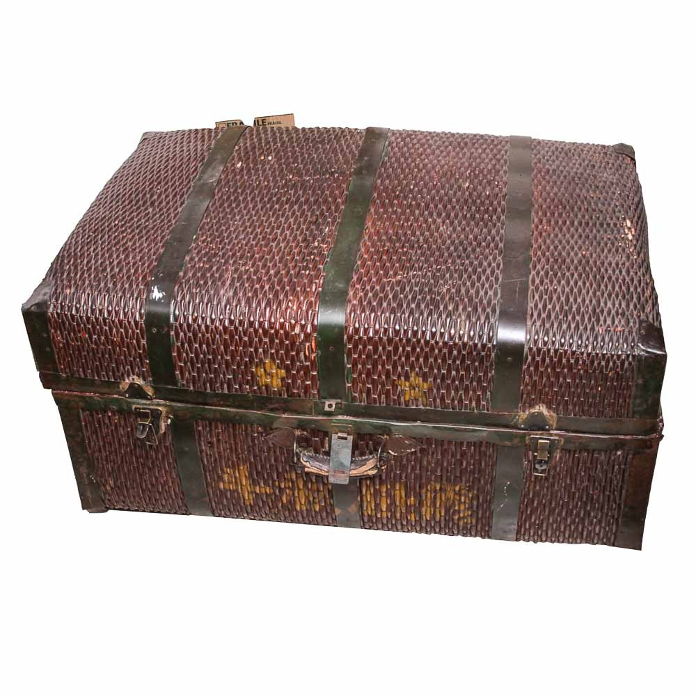 Asian Style Woven Suitcase Trunk