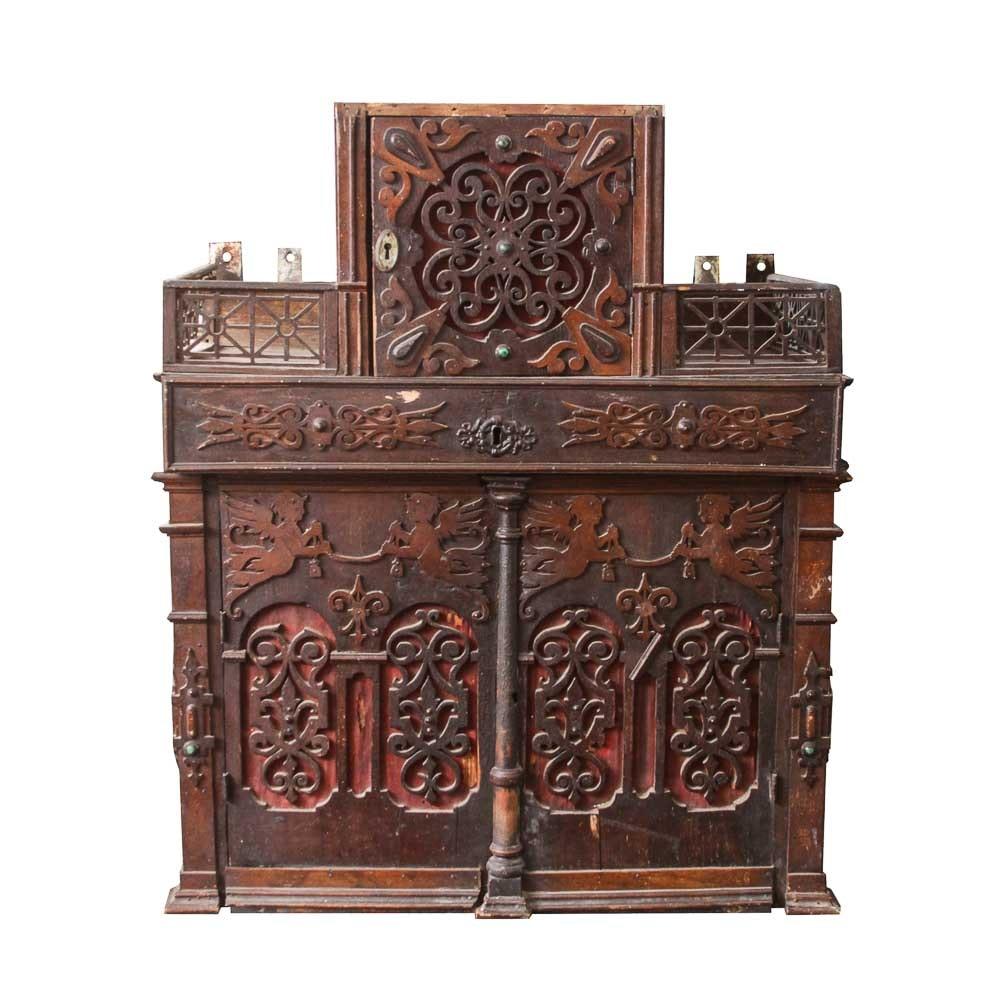 Antique Ecclesiastical Altar Cabinet, Circa 1880s