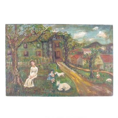 Regina G. Oil Painting