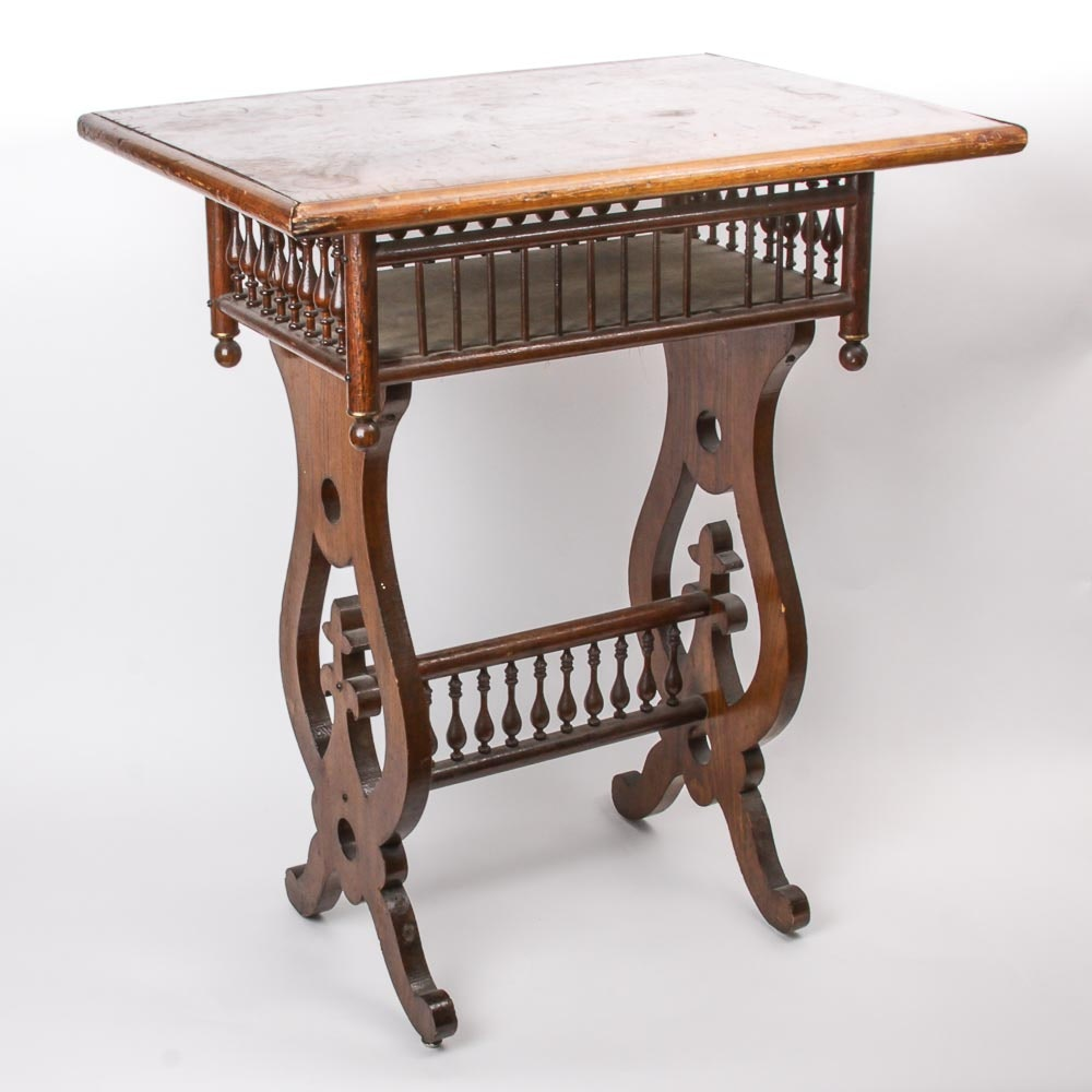 Late 19th Century Victorian Aesthetic Movement Sewing Table