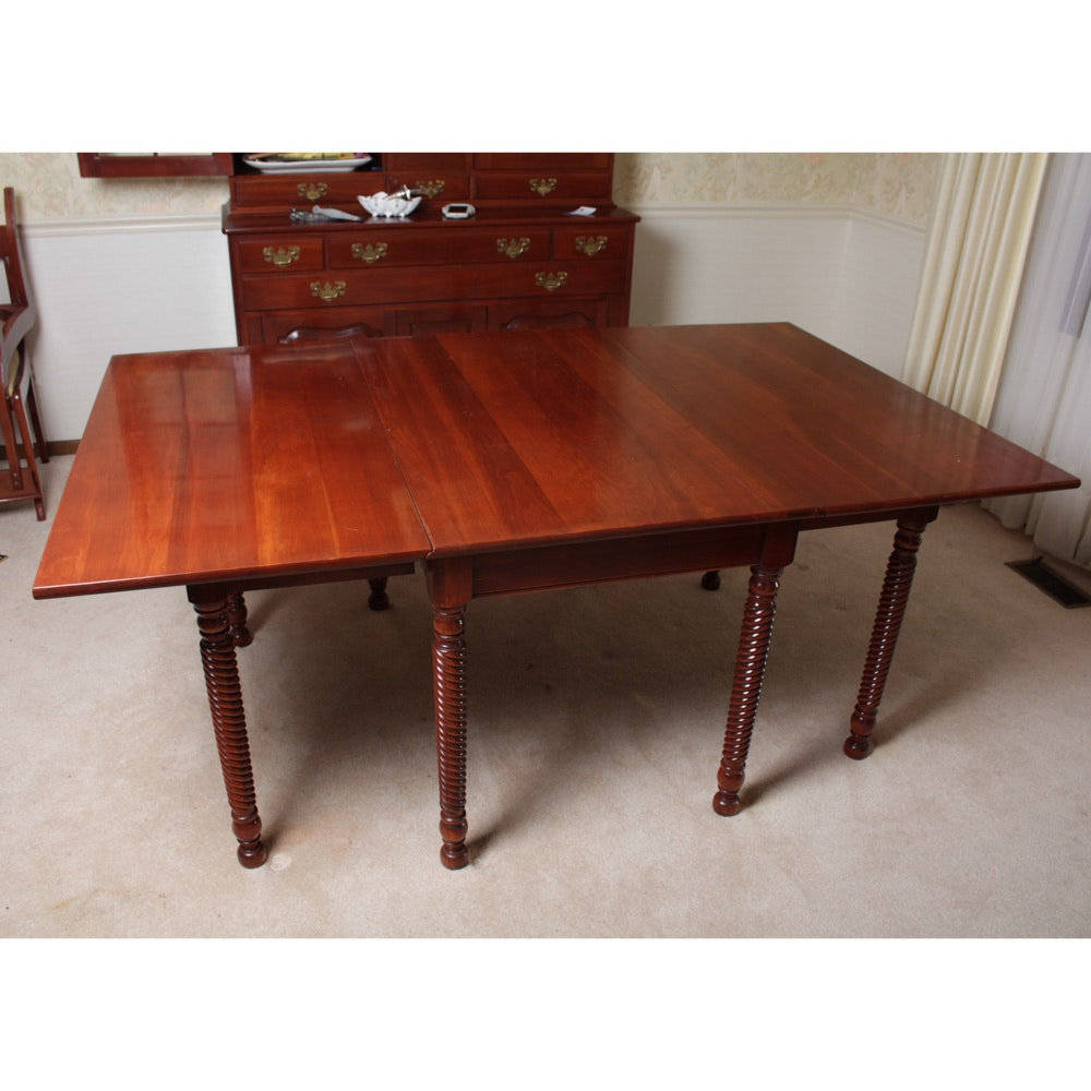 Willet Furniture Wildwood Cherry Dropleaf Dining Table ...