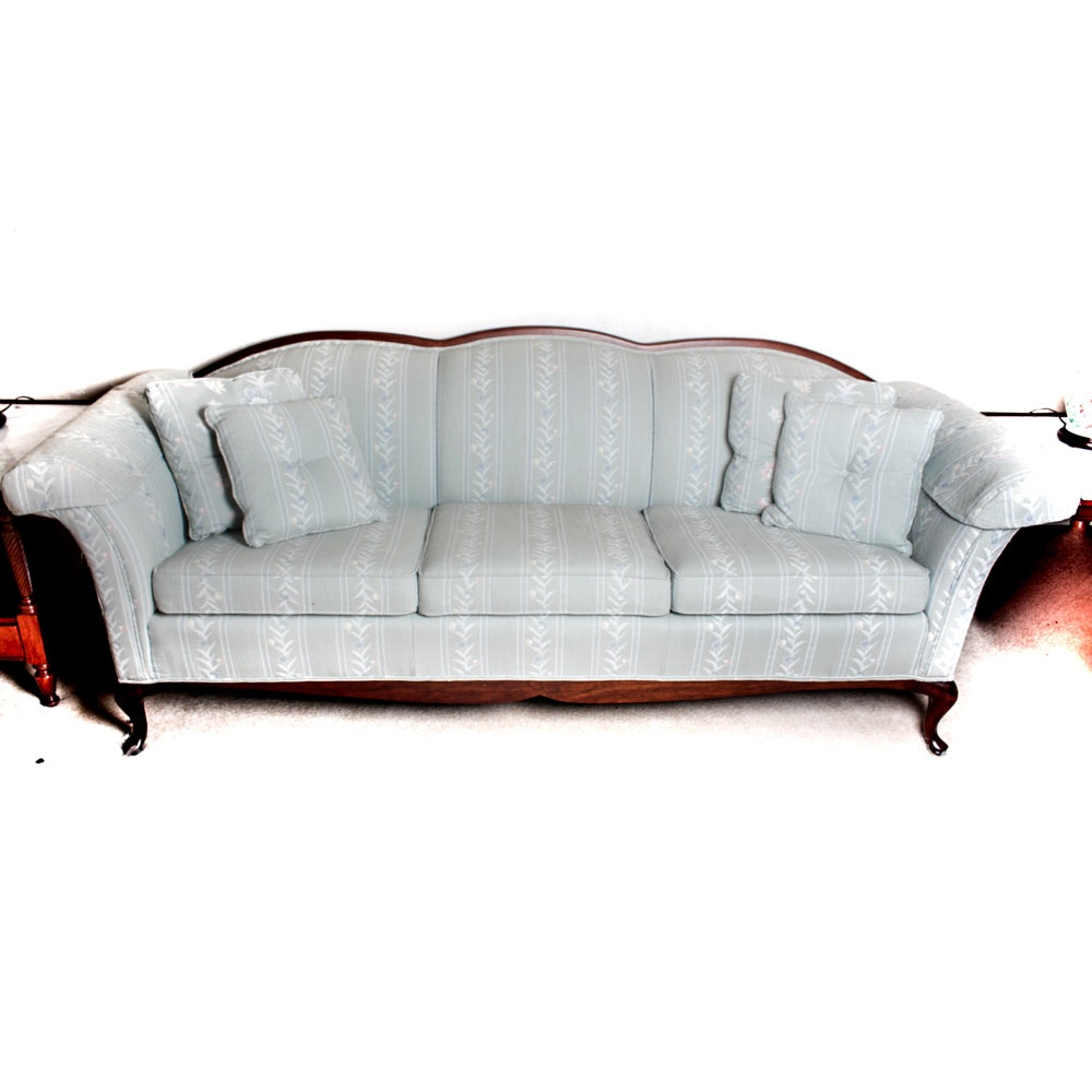 Vintage Clayton Marcus Queen Anne Style Upholstered Sofa ...