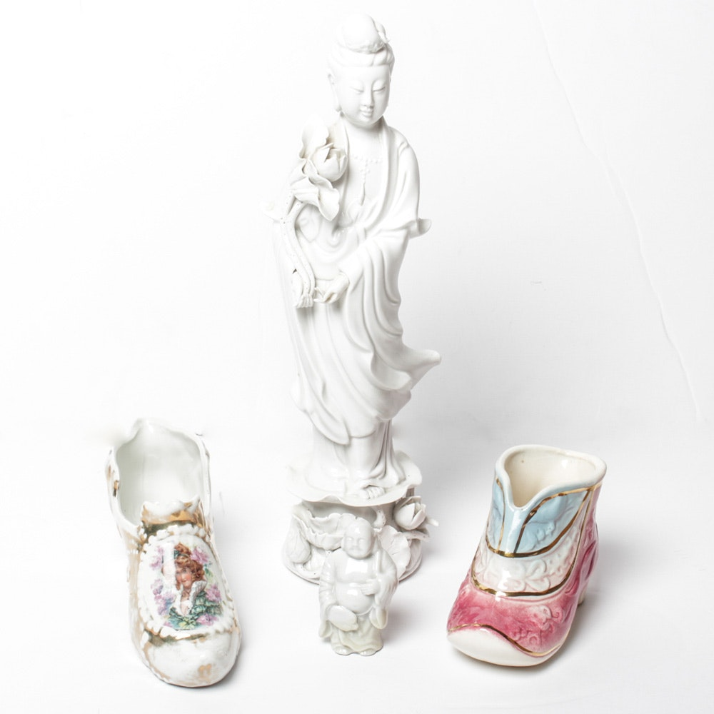 Japanese Porcelain Figurine and More