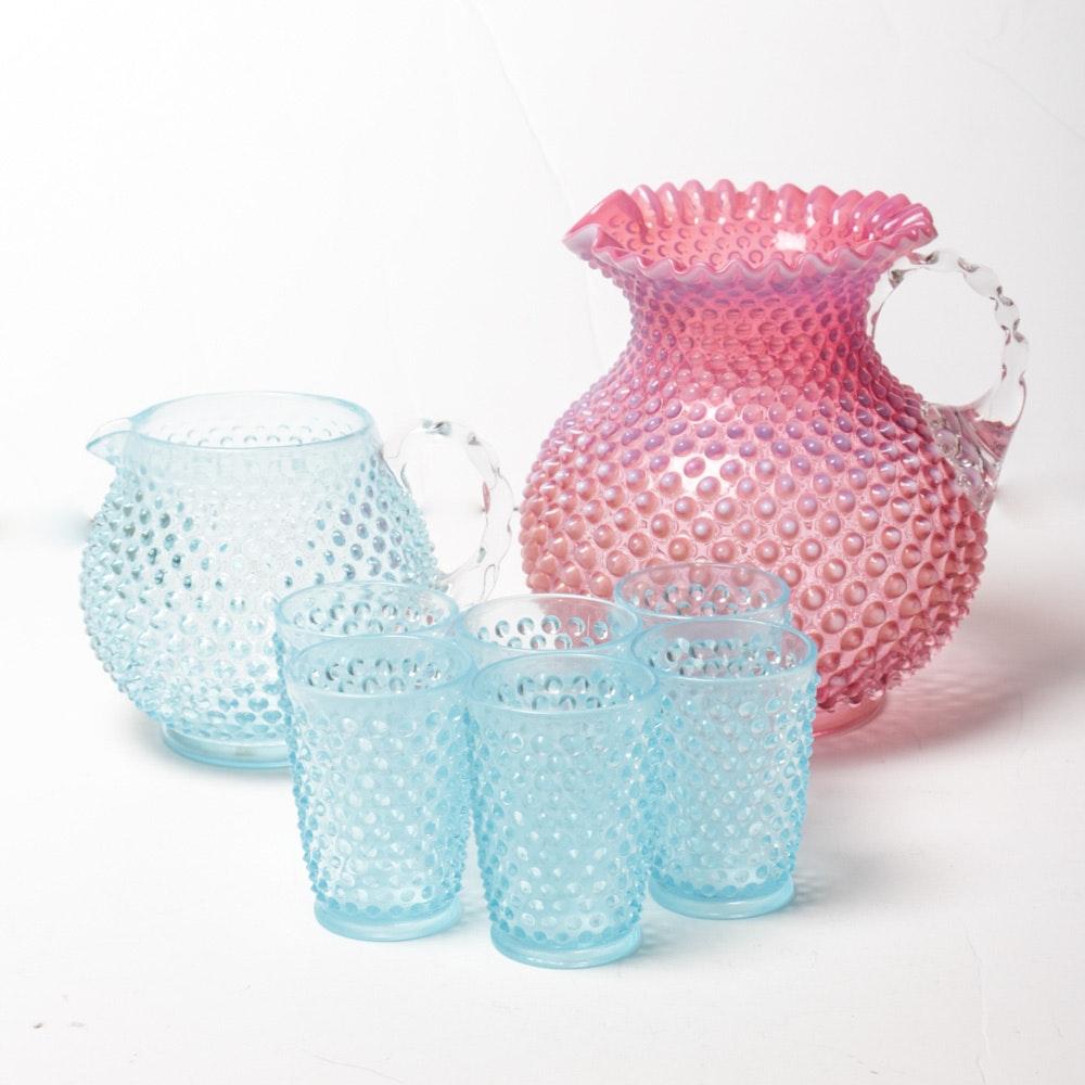 Vintage Hobnail Glass