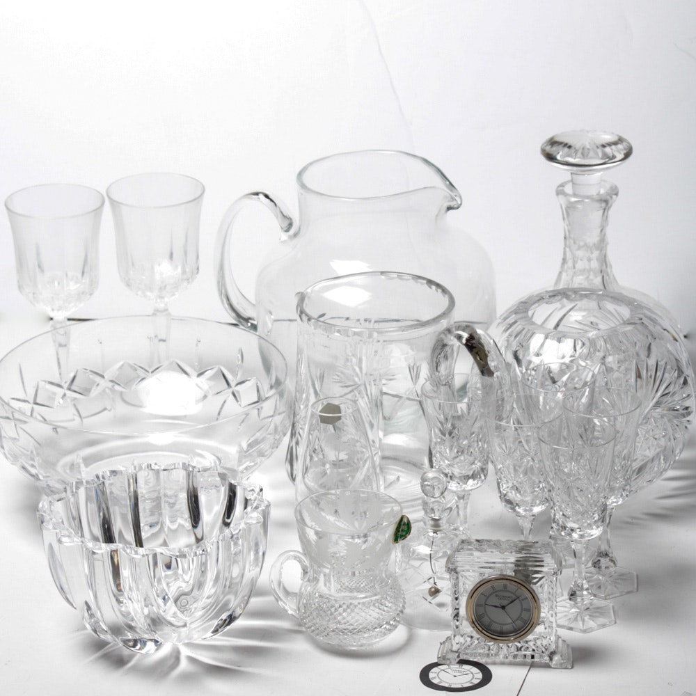 Assortment of Crystal Giftware Including Orrefors and Waterford