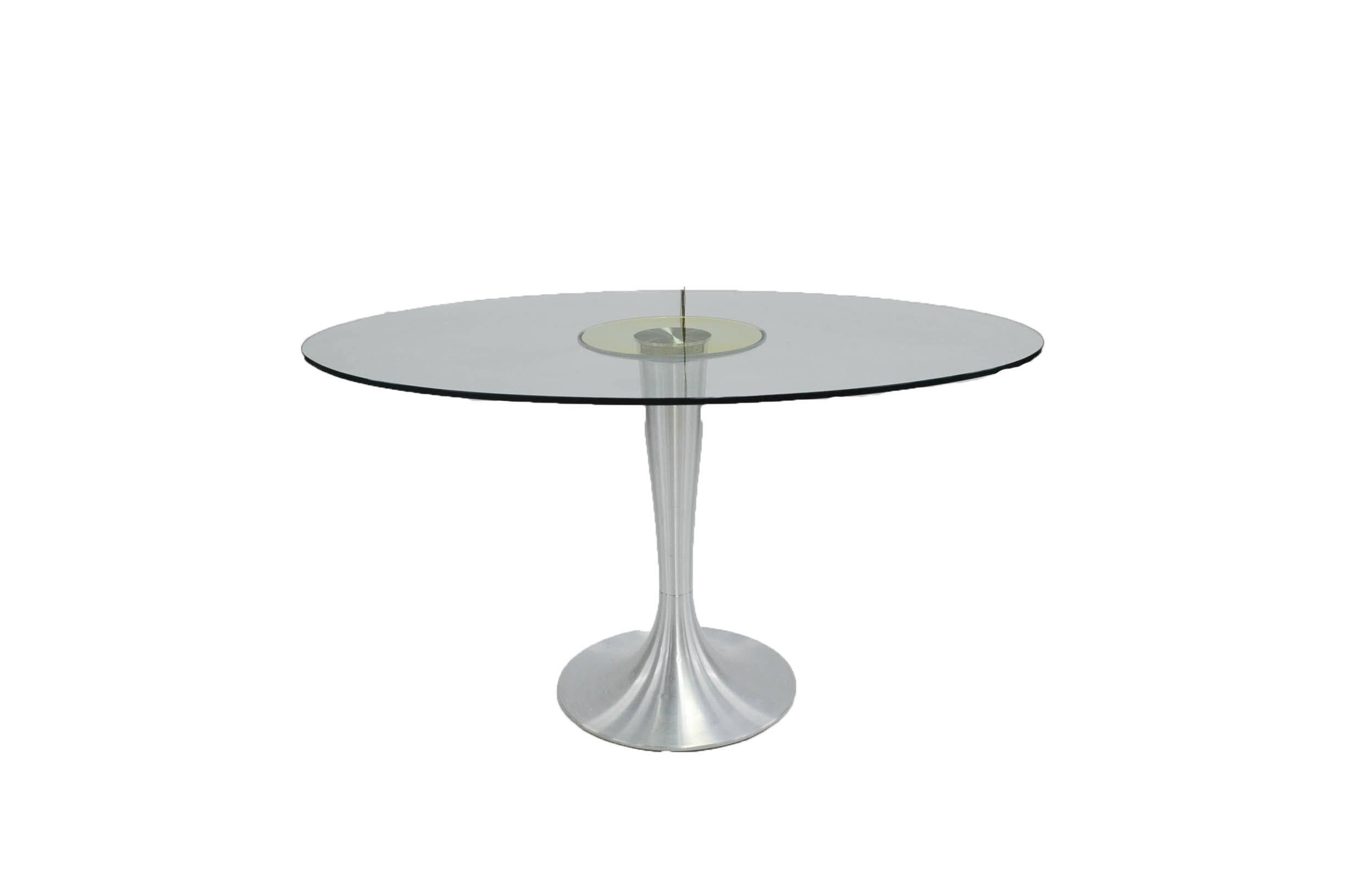 Modern Glass Top Tulip Dining Table