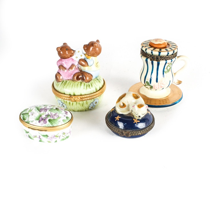Four Small Trinket Boxes