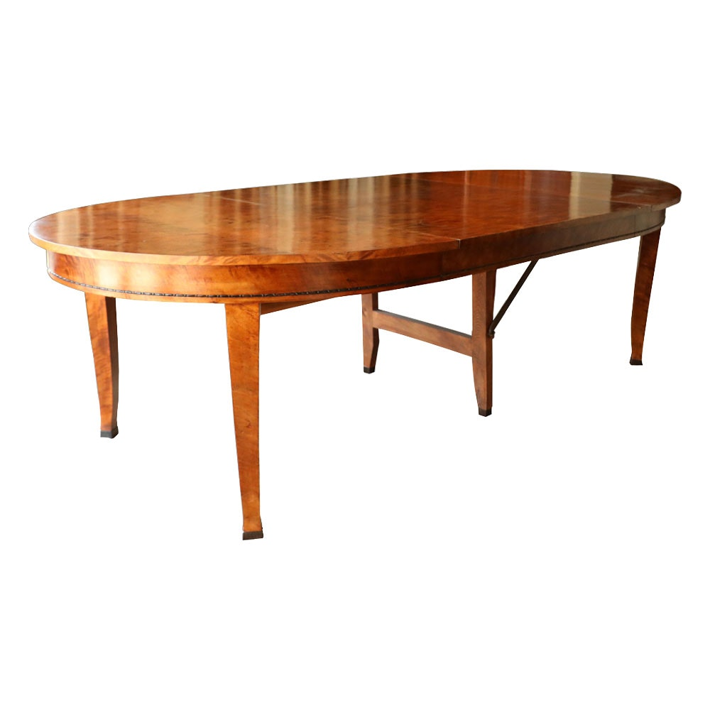 Biedermeier Style Cherry Extension Dining Table