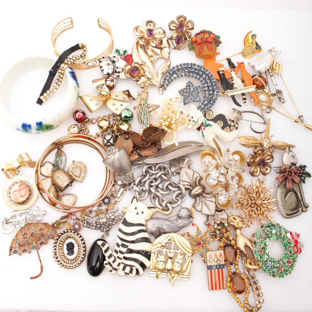 Bracelets, Pins and Locket Selection