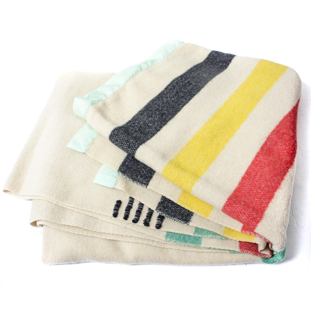 Vintage Hudson Bay Wool Blanket
