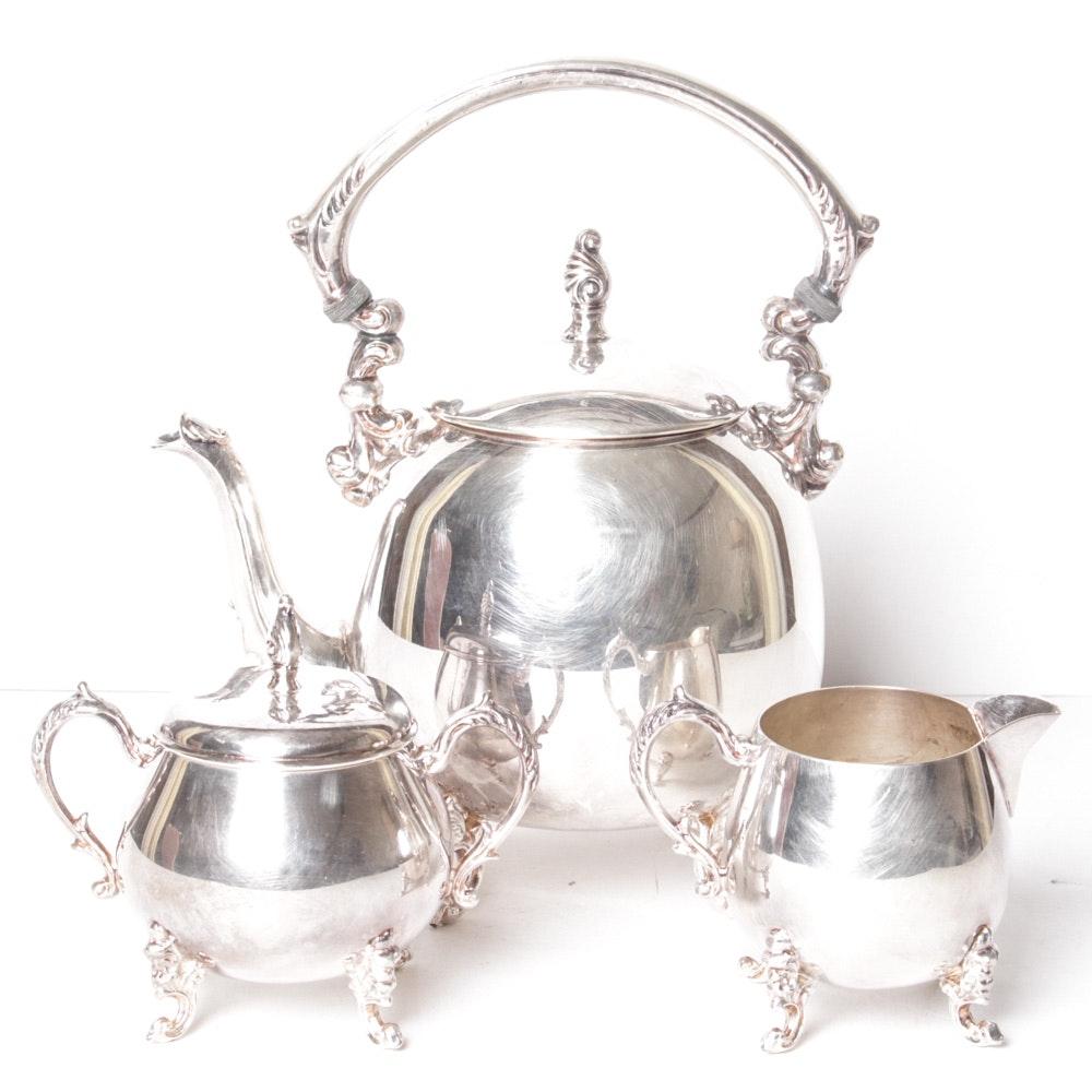 Sheridan Silver Co. Vintage Silver on Copper Tea Service