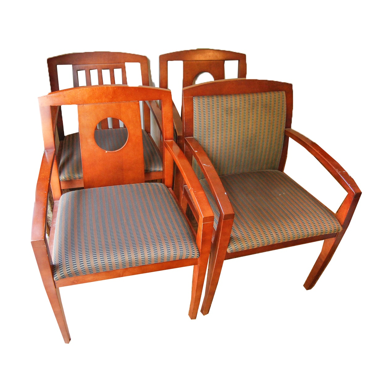 Set of Mismatched Armchairs