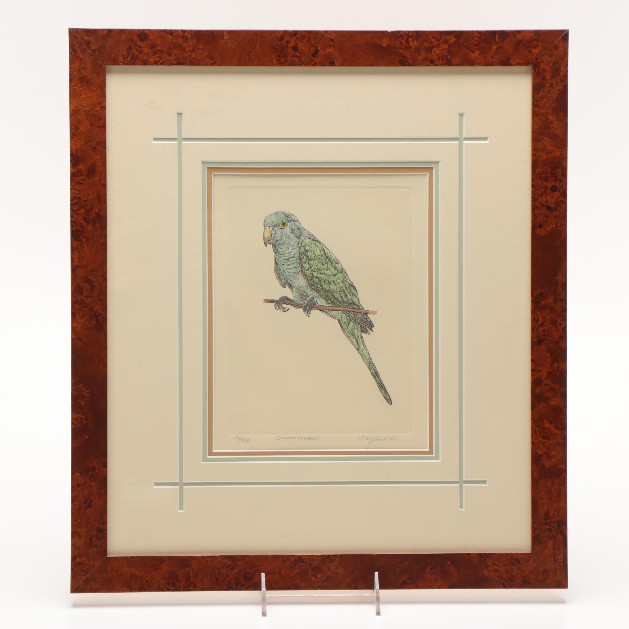 Mary Ann Lis Limited Edition Hand-colored Etching