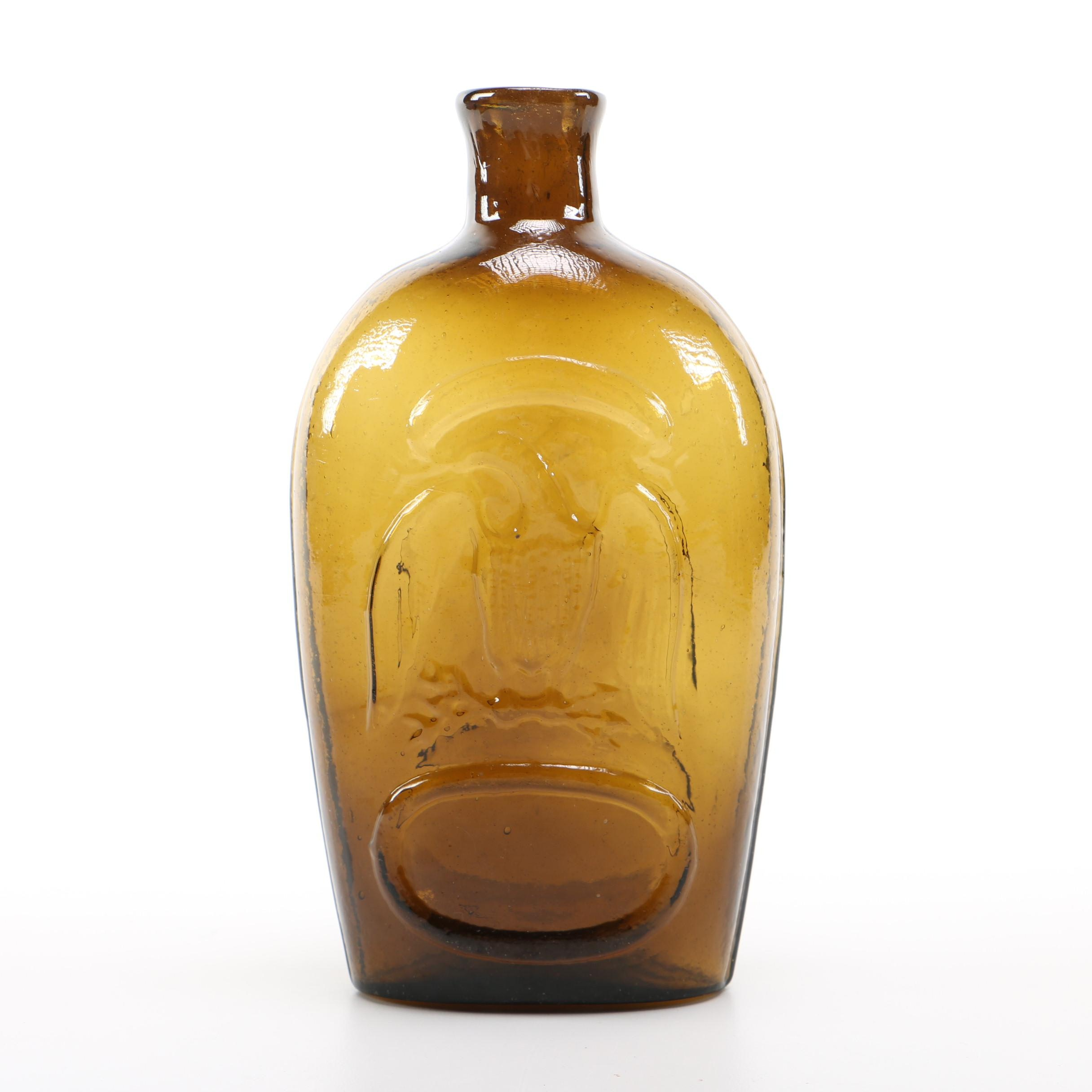 Vintage Patriotic Glass Bottle