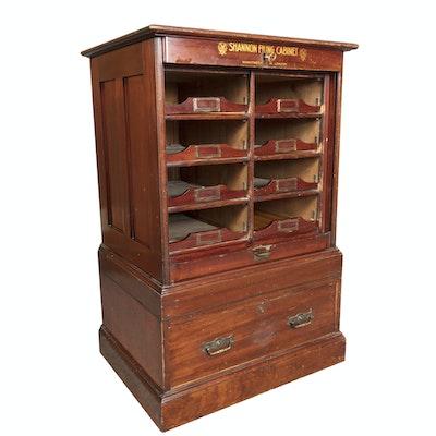 Antique Merchants Mahogany Shannon Filing Cabinet