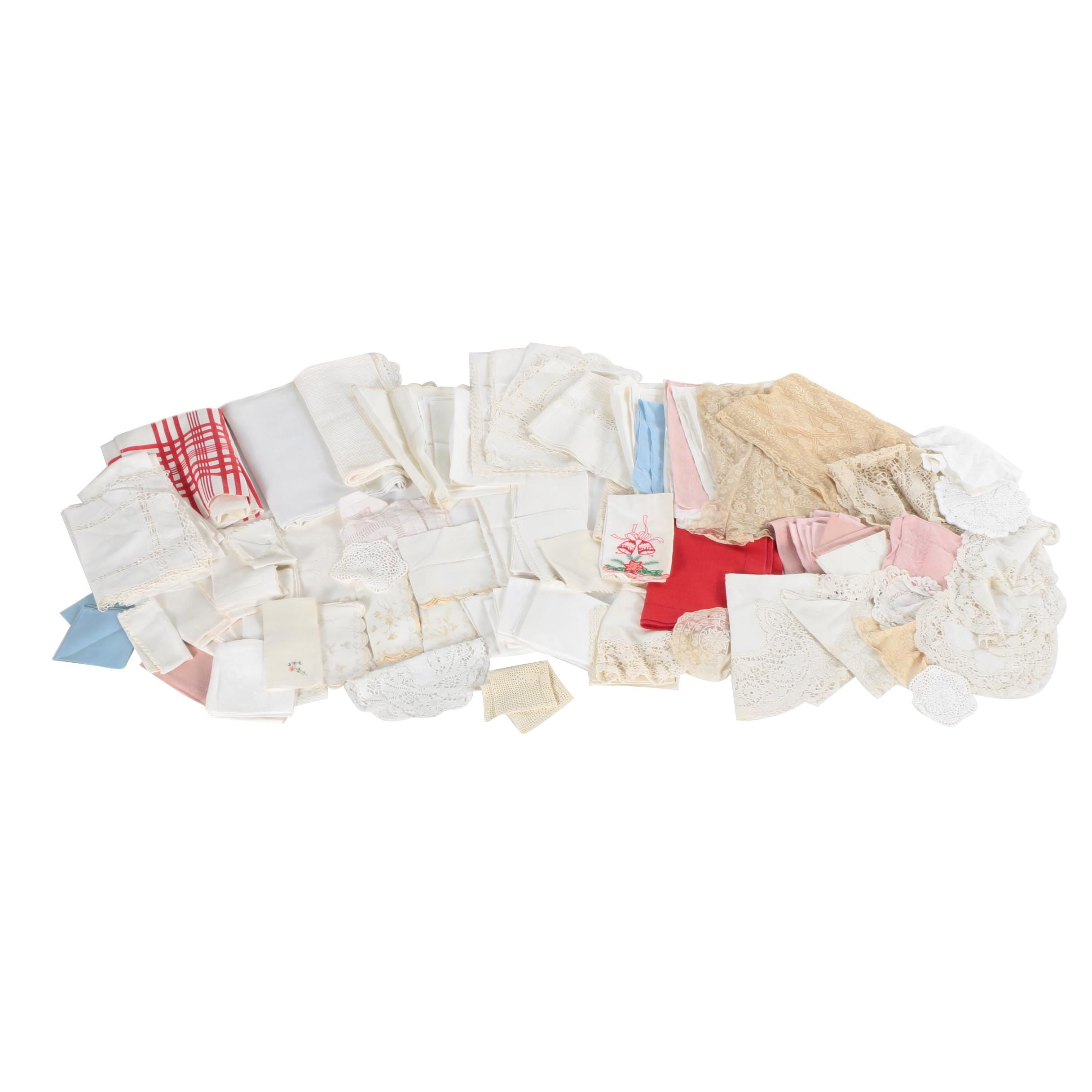 Assorted Kitchen and Table Linens