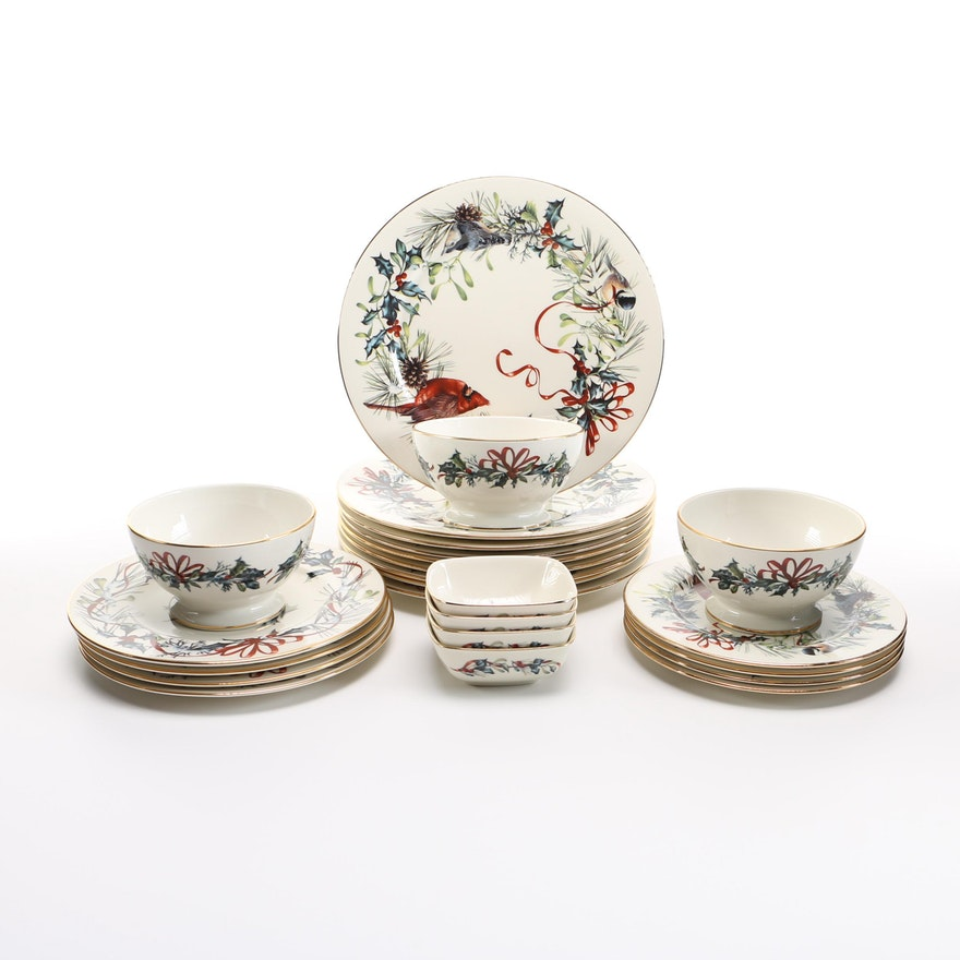 Lenox winter greetings china ebth lenox winter greetings china m4hsunfo